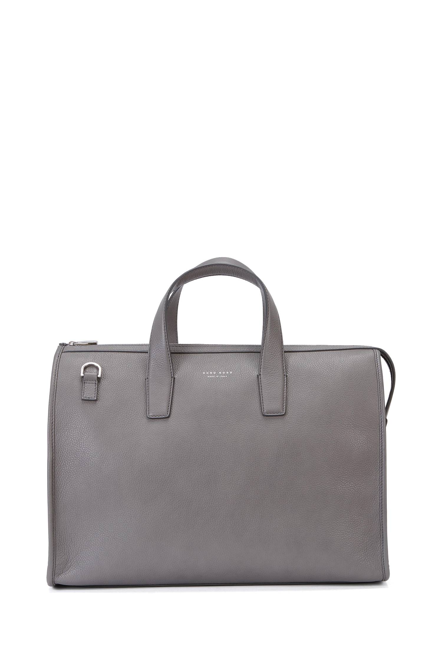 Leather holdall with detachable shoulder strap `Elegance_Holdall`