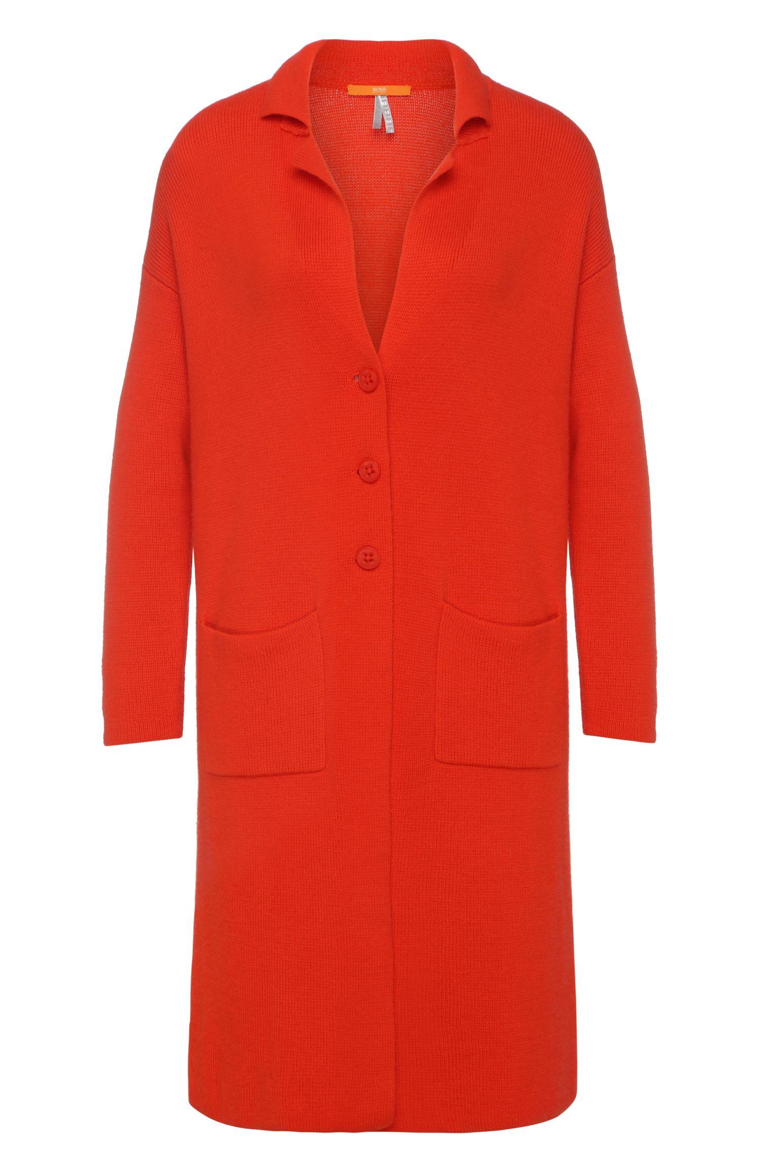 Lang comfort-fit vest van een katoenmix met zijde: 'Ilvanova'