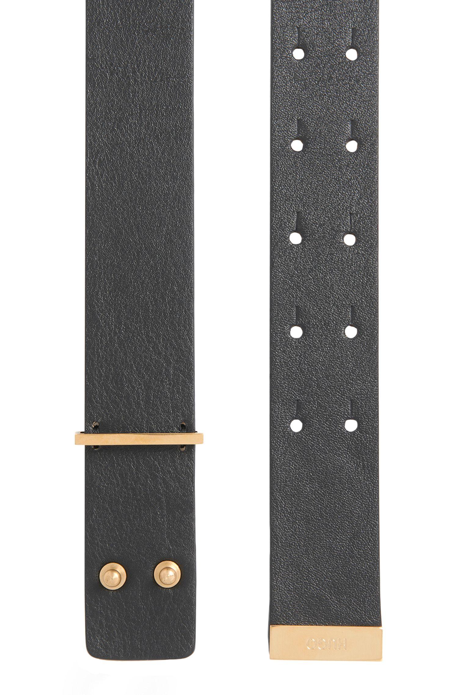 Gürtel aus Leder mit doppeltem Zapfenverschluss: 'Lupe'