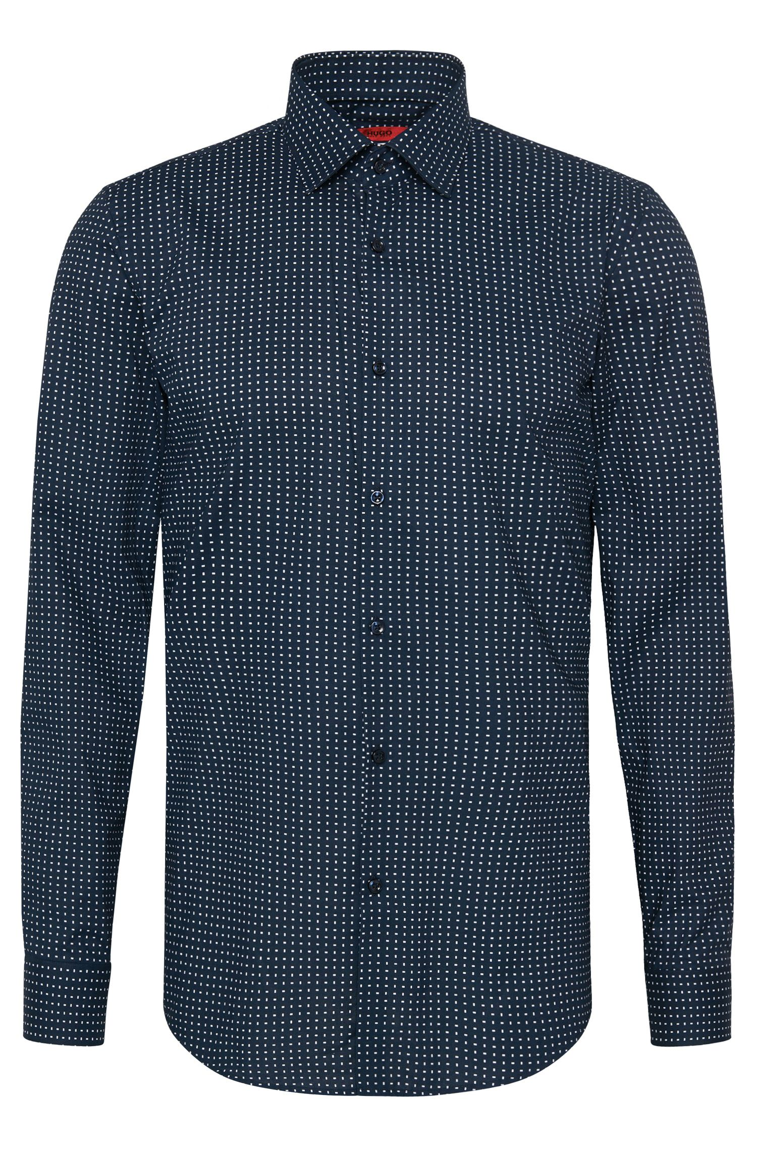 Patterned slim-fit shirt in cotton: 'C-Jenno'