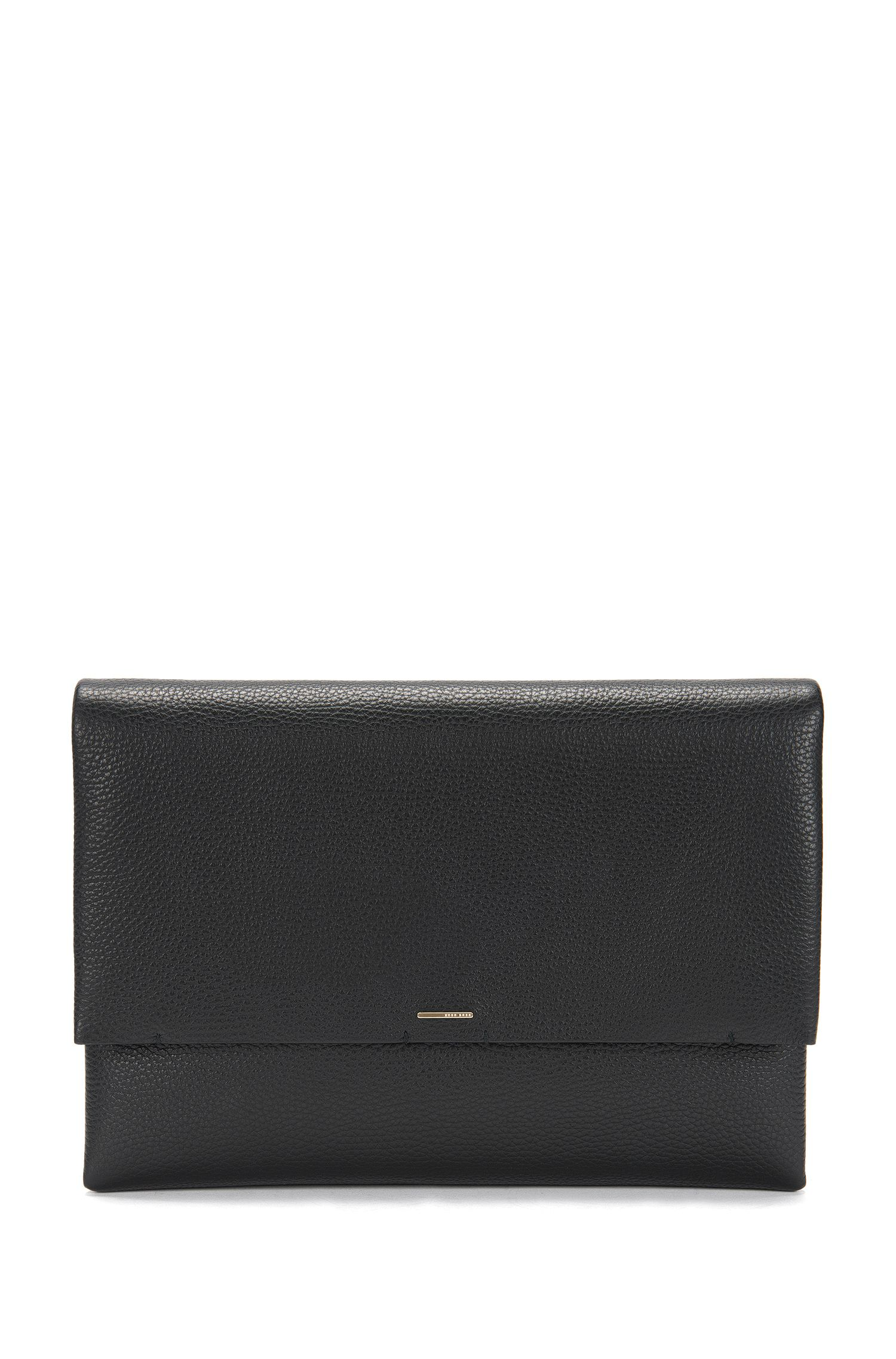 Clutch bag in embossed leather: 'Luxury Staple A'