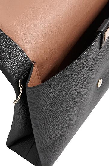 Clutch aus geprägtem Leder: 'Luxury Staple A', Schwarz