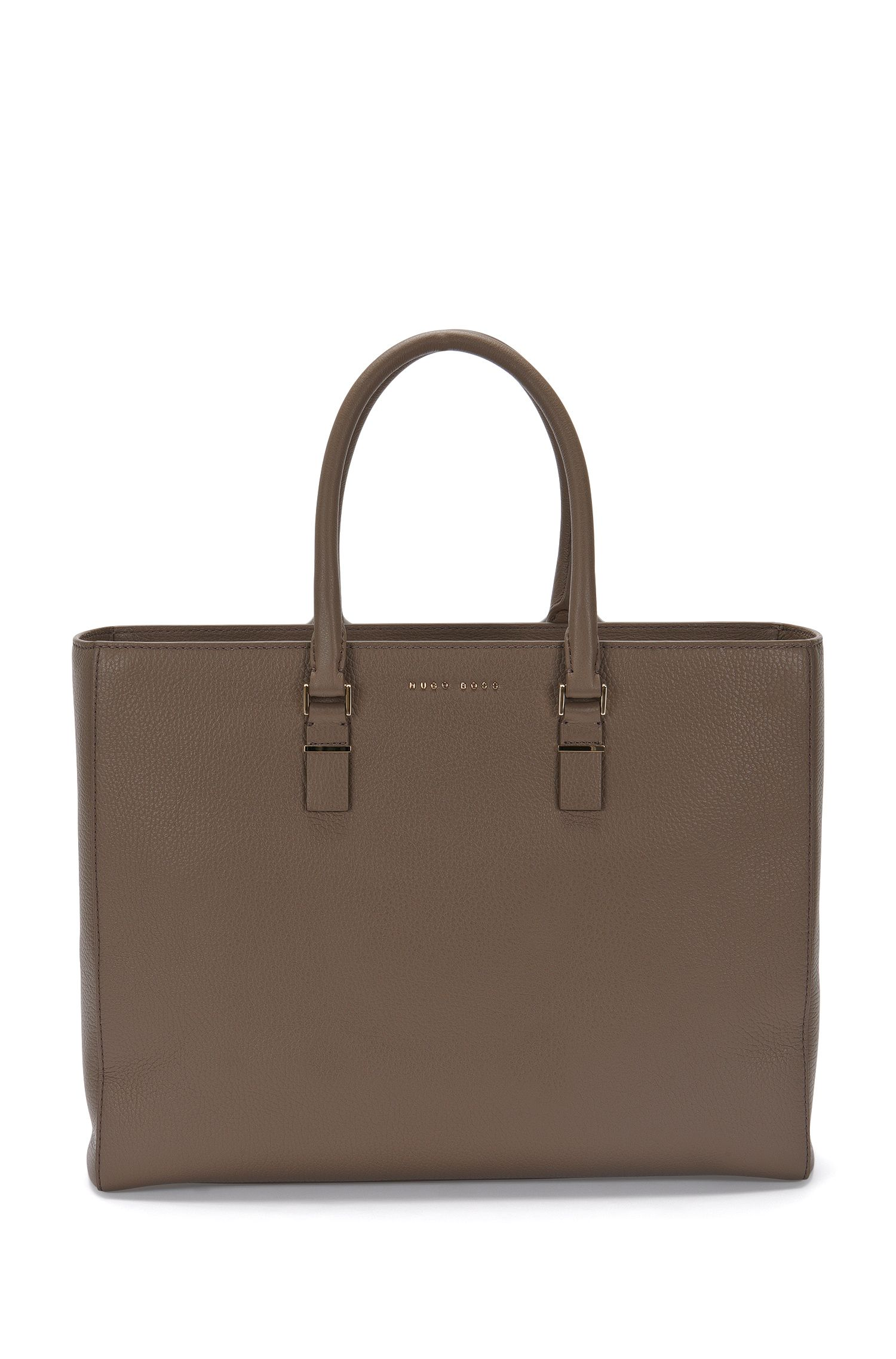 BOSS Luxury Staple work bag in rich Italian leather
