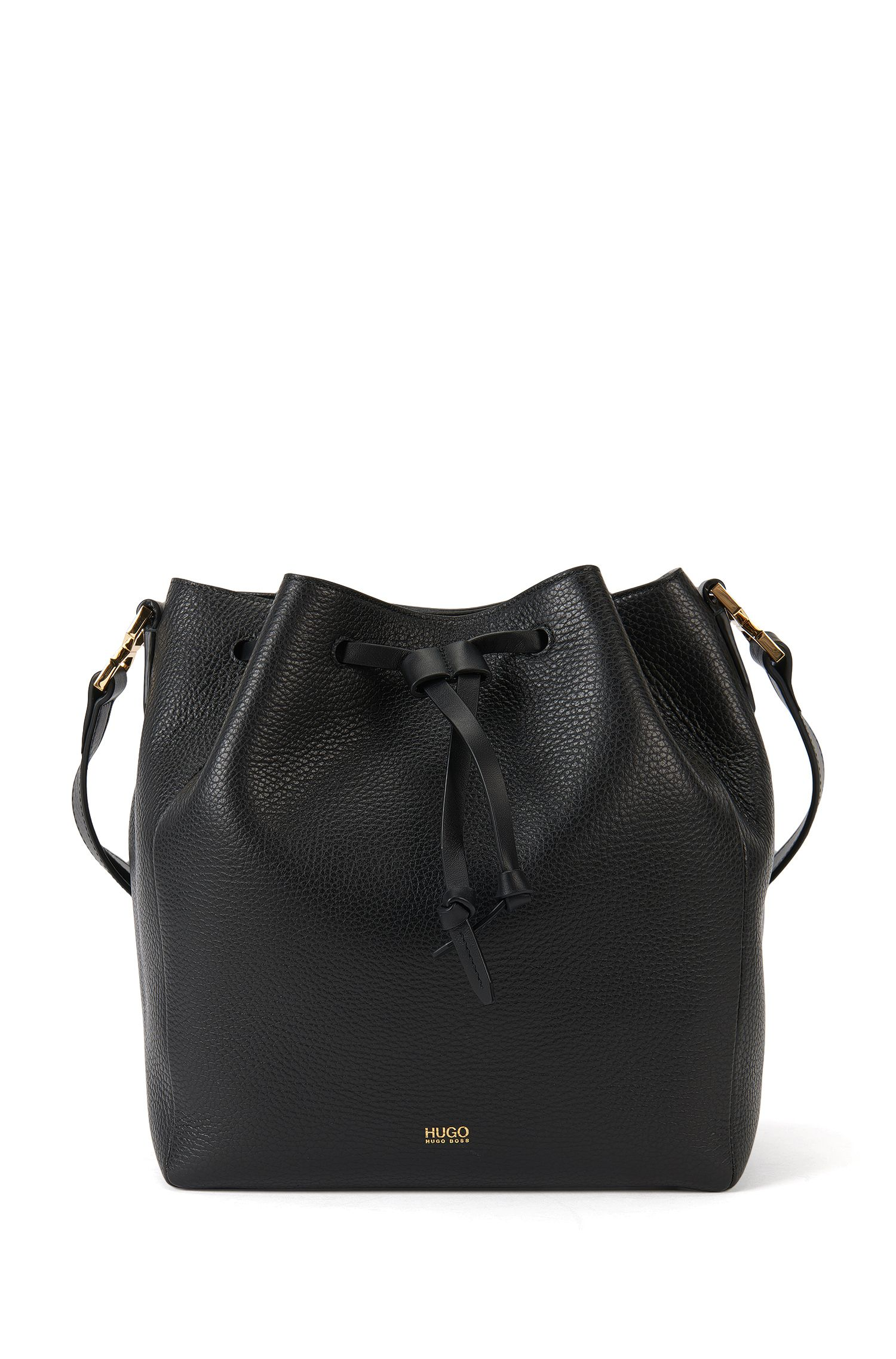 Bucket Bag in pelle con bandoliera regolabile: 'Gaby-R'