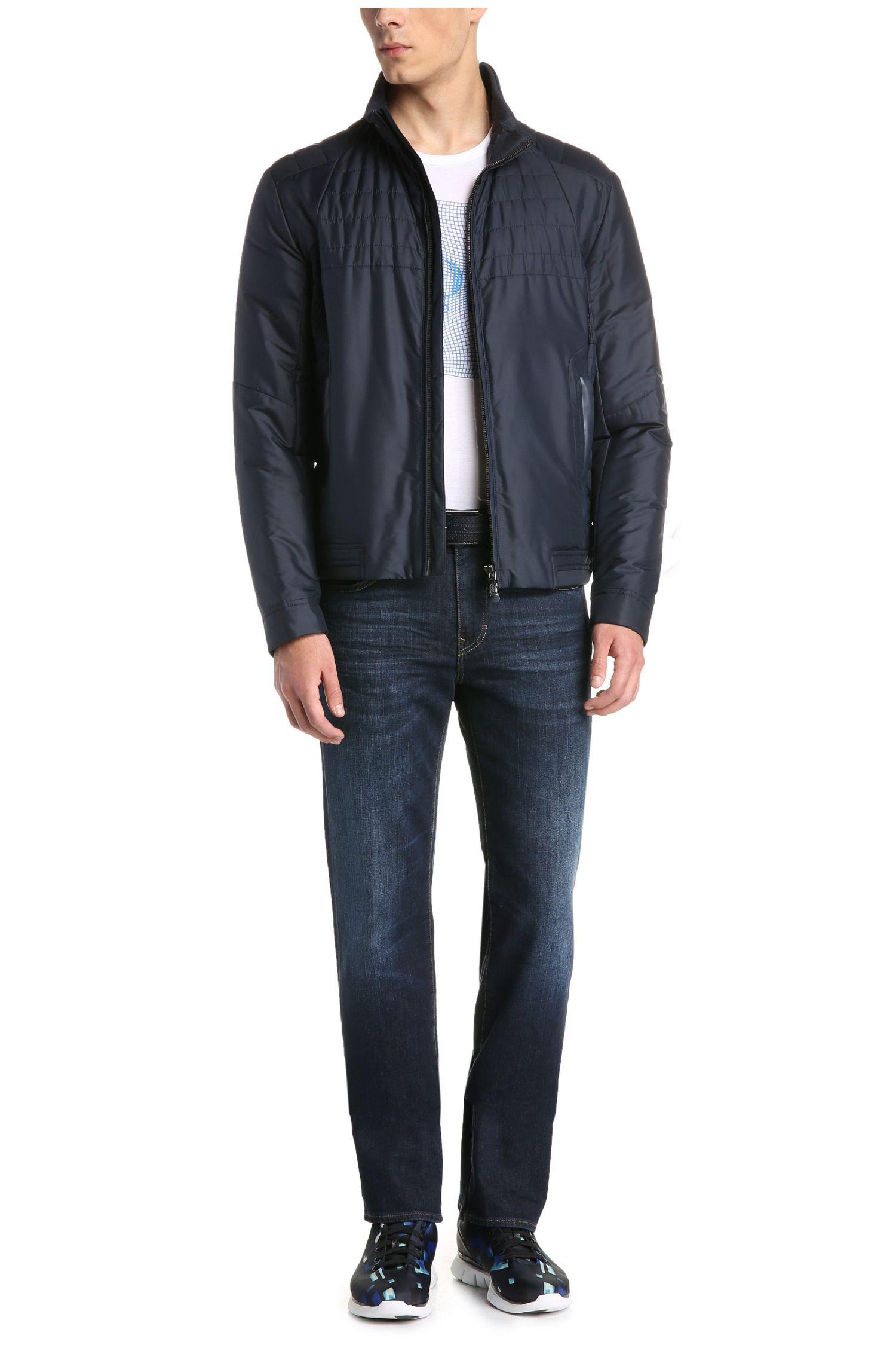 Verwassen regular-fit jeans van elastische katoen: 'C-KANSAS'
