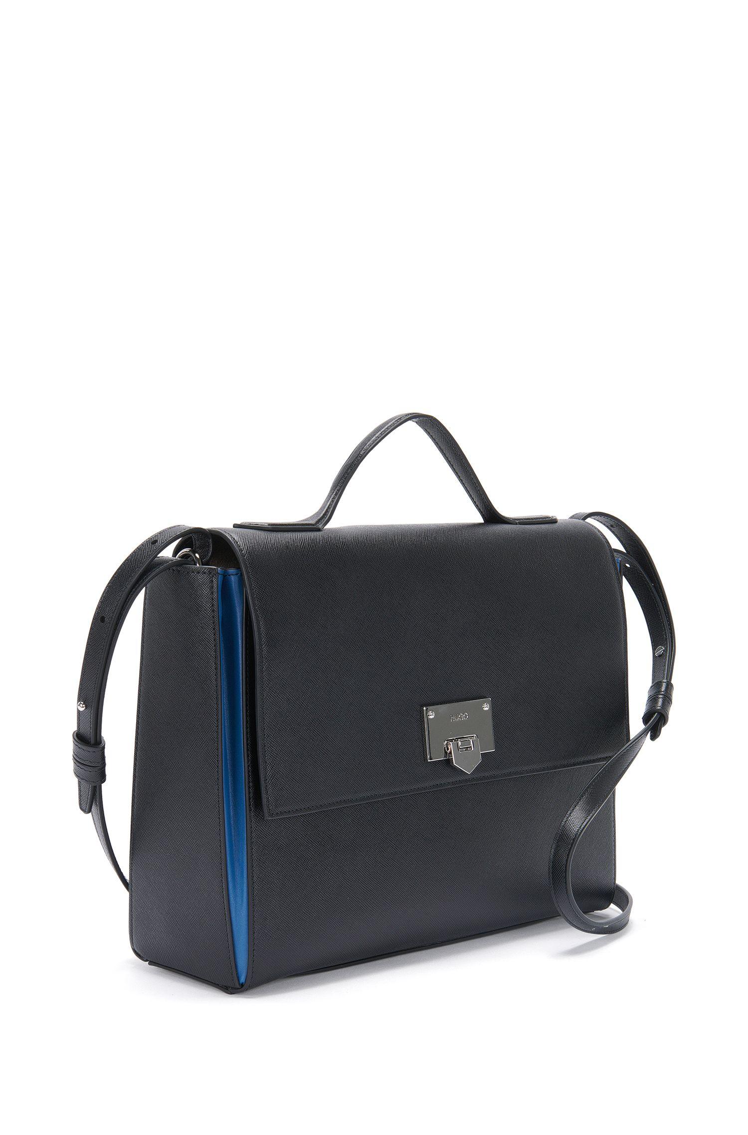 Handtasche aus Leder mit Kontrast-Details: 'Maike'