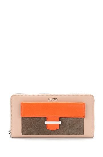 Geldbörse aus Leder im mehrfarbigen Dessin: 'Philo', Orange