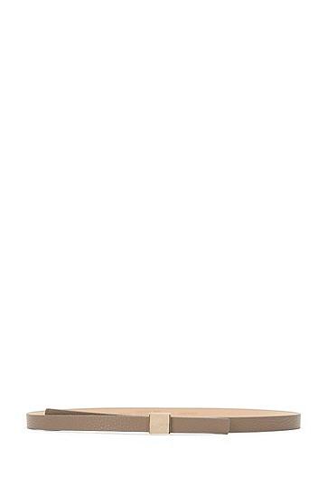Schmaler Gürtel aus Leder: 'Bliss-A', Hellbraun