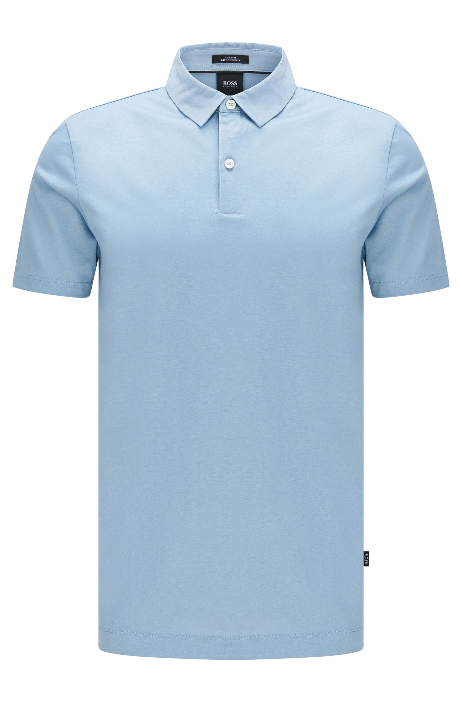 Slim-fit polo shirt in mercerised cotton: 'Place 13'