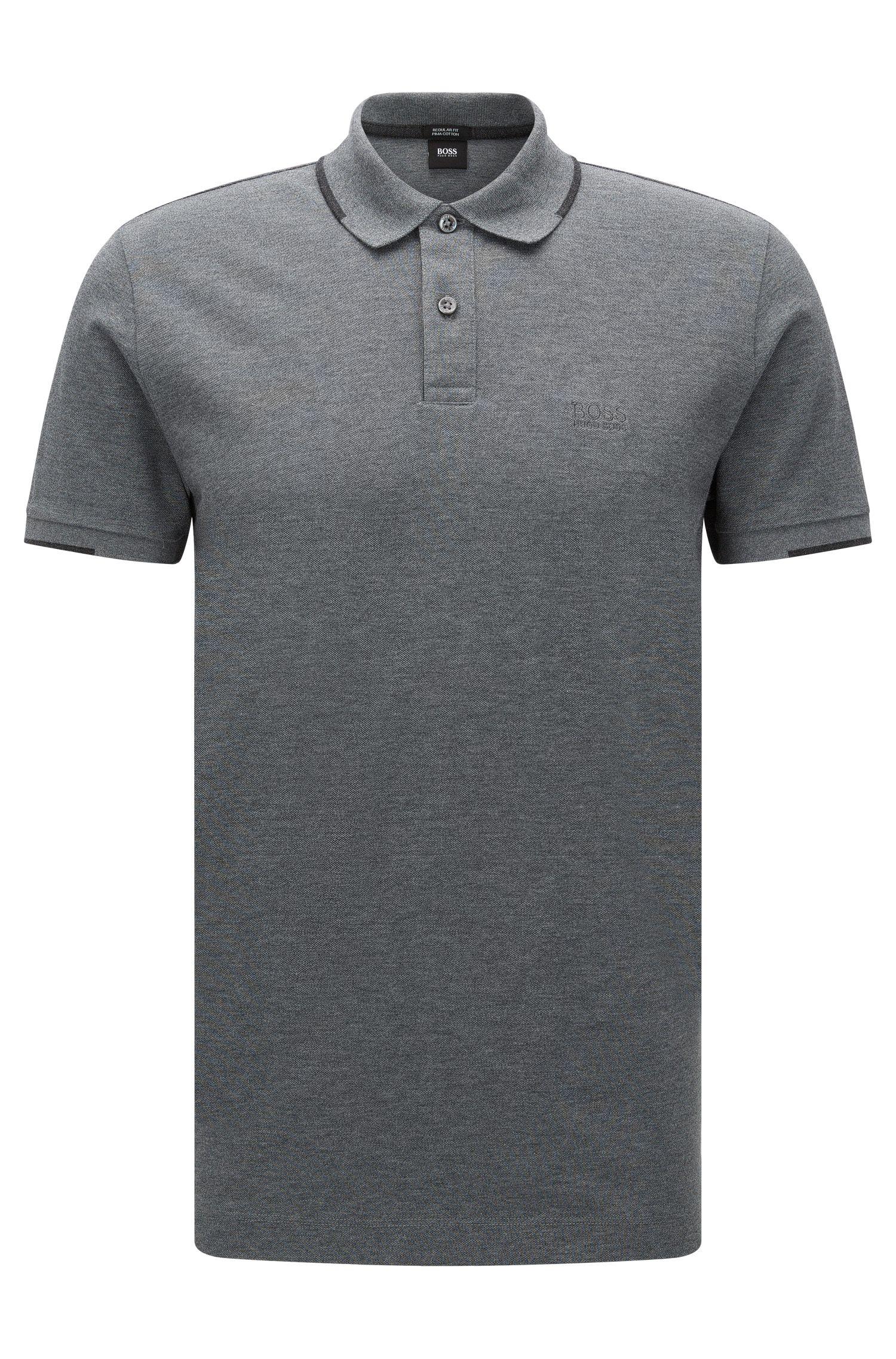 Polo regular fit en algodón con detalles contrastados: 'Parlay 06'