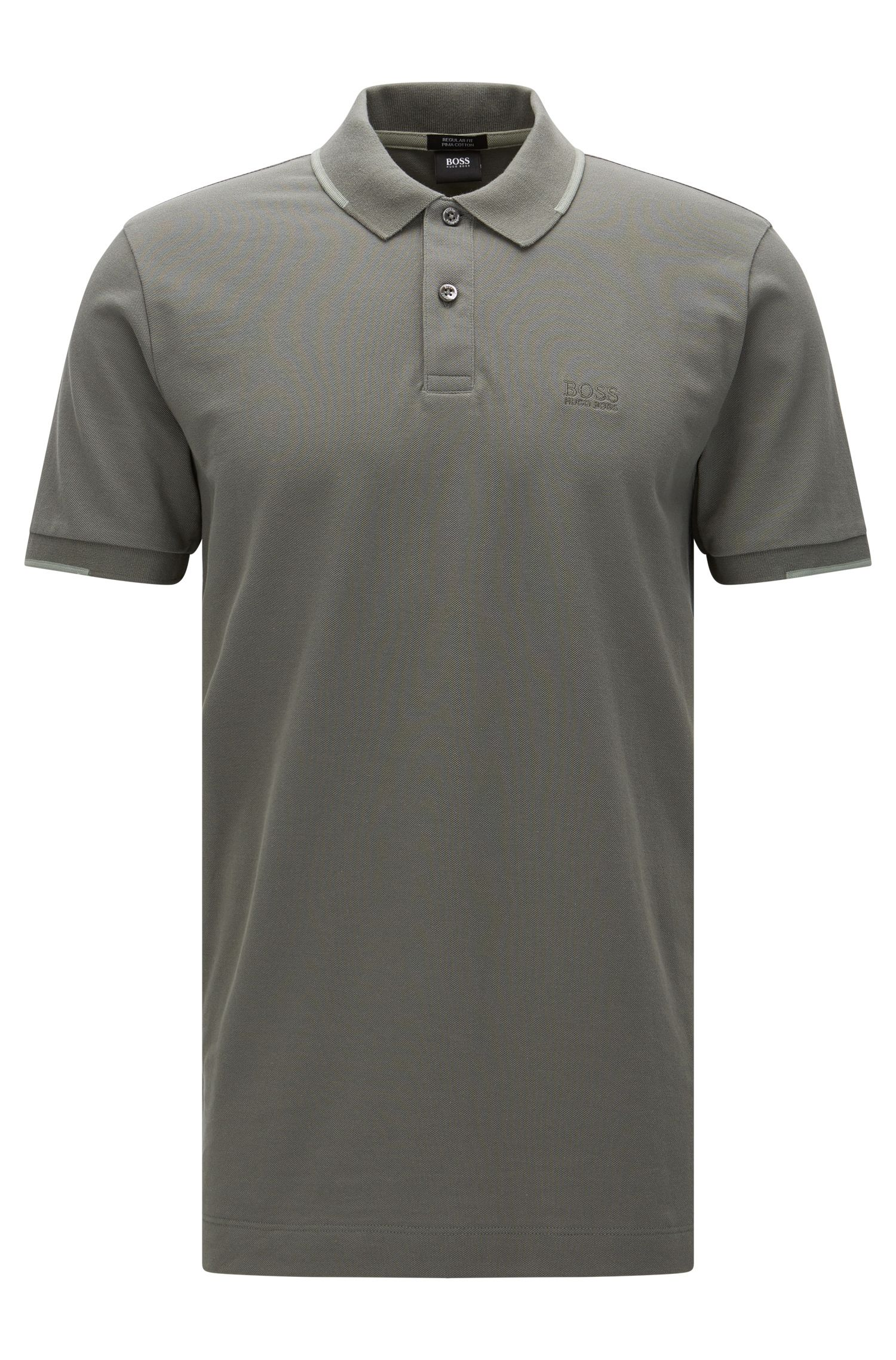 Regular-fit polo shirt in cotton with contrasting details: 'Parlay 06'