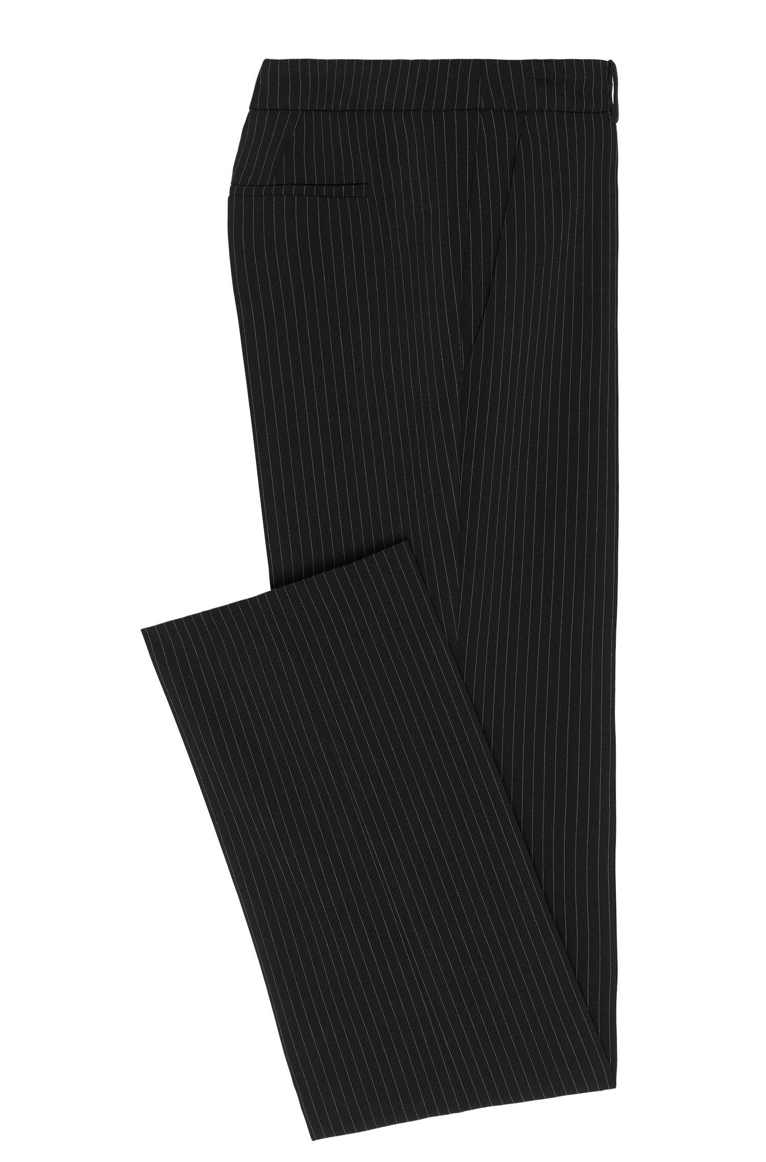 Gerade geschnittene Hose im Nadelstreifen-Dessin: 'Hinass-5'
