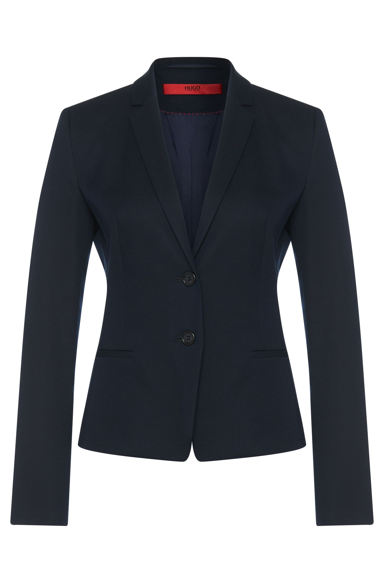 Slightly fitted blazer in cotton blend: 'Afrona'