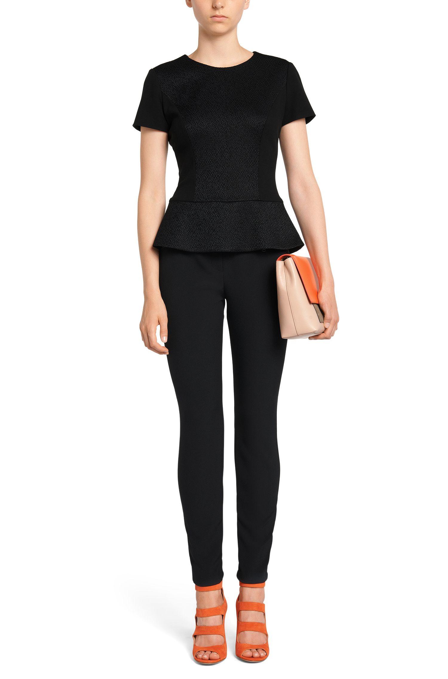 Pantalon taille basse avec poches zippées: «Hedine»