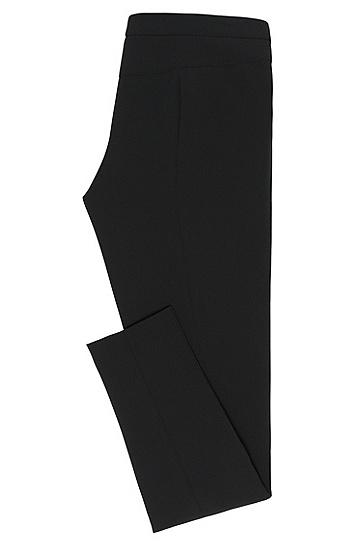 Low-Waisted Hose mit Reißverschlusstaschen: 'Hedine', Schwarz