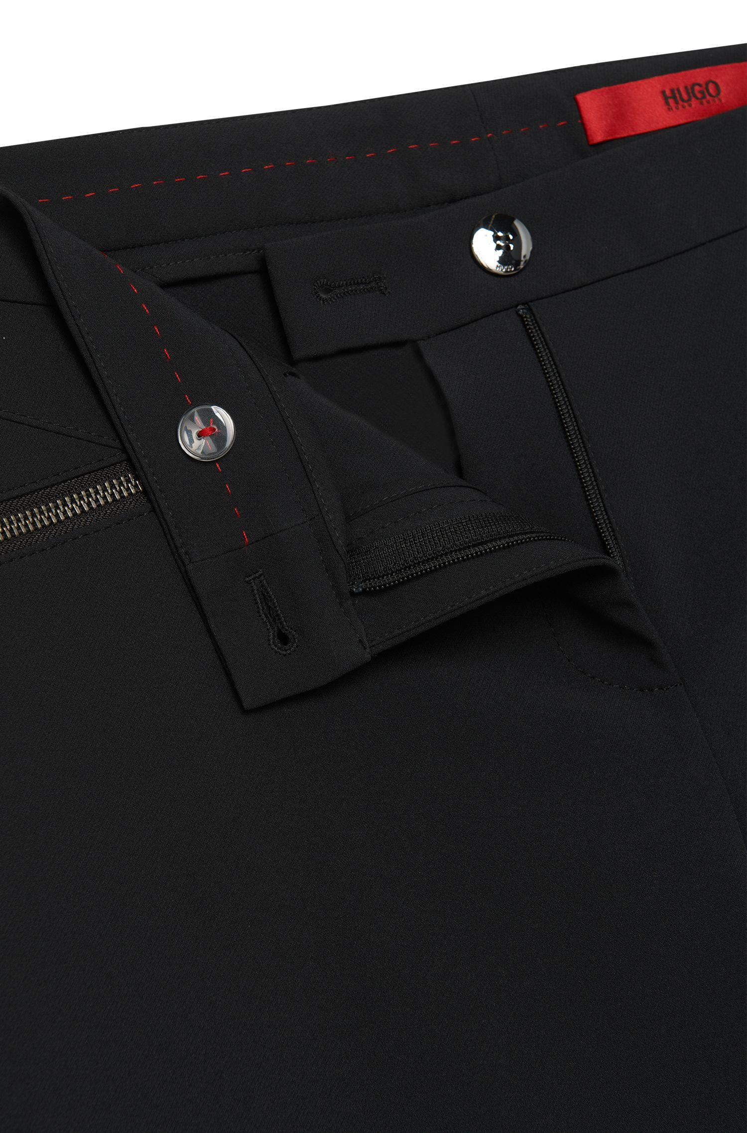 Low-waisted broek met ritszakken: 'Hedine'