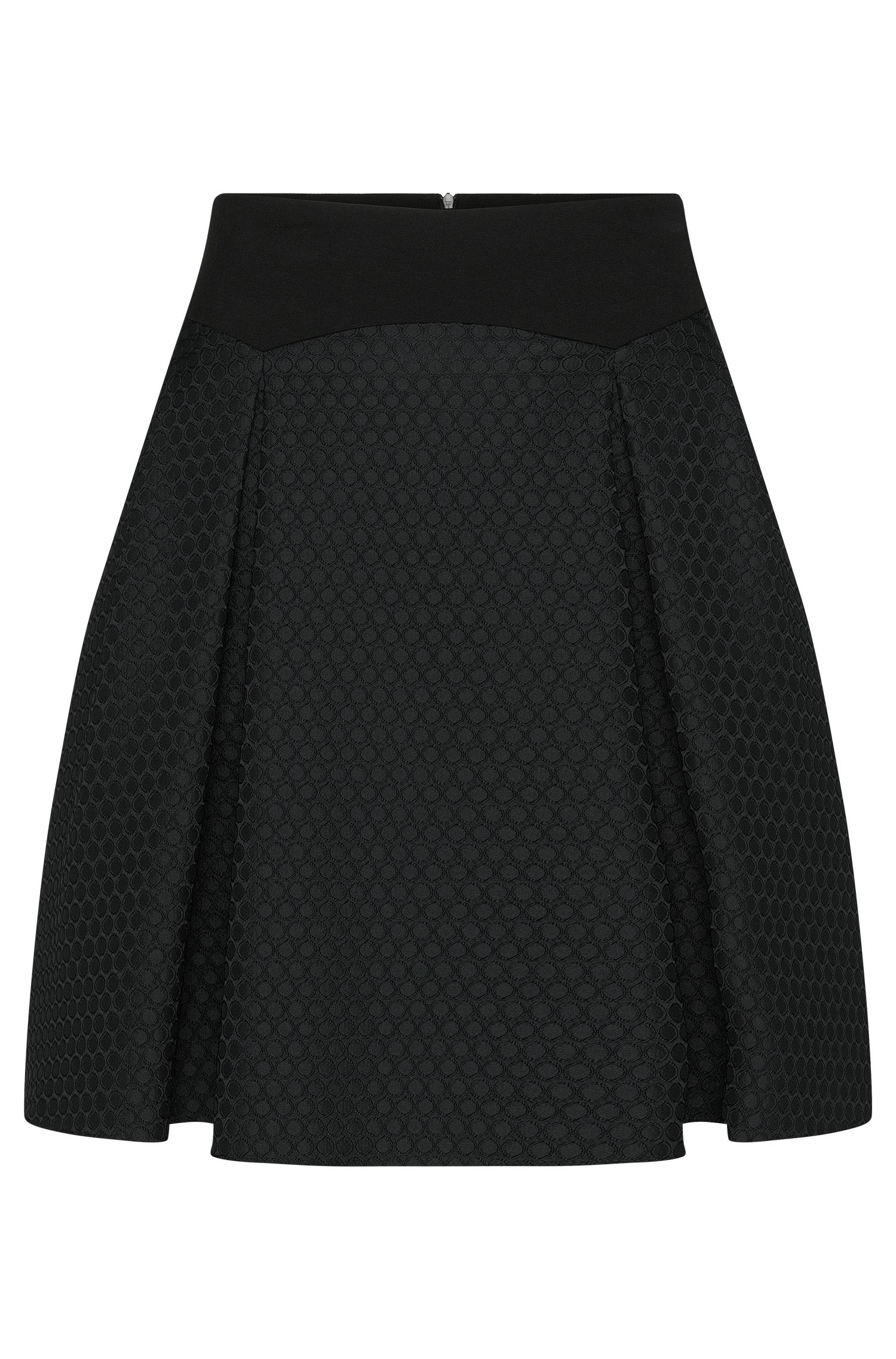 Fitted skirt with textured pattern: 'Renie'