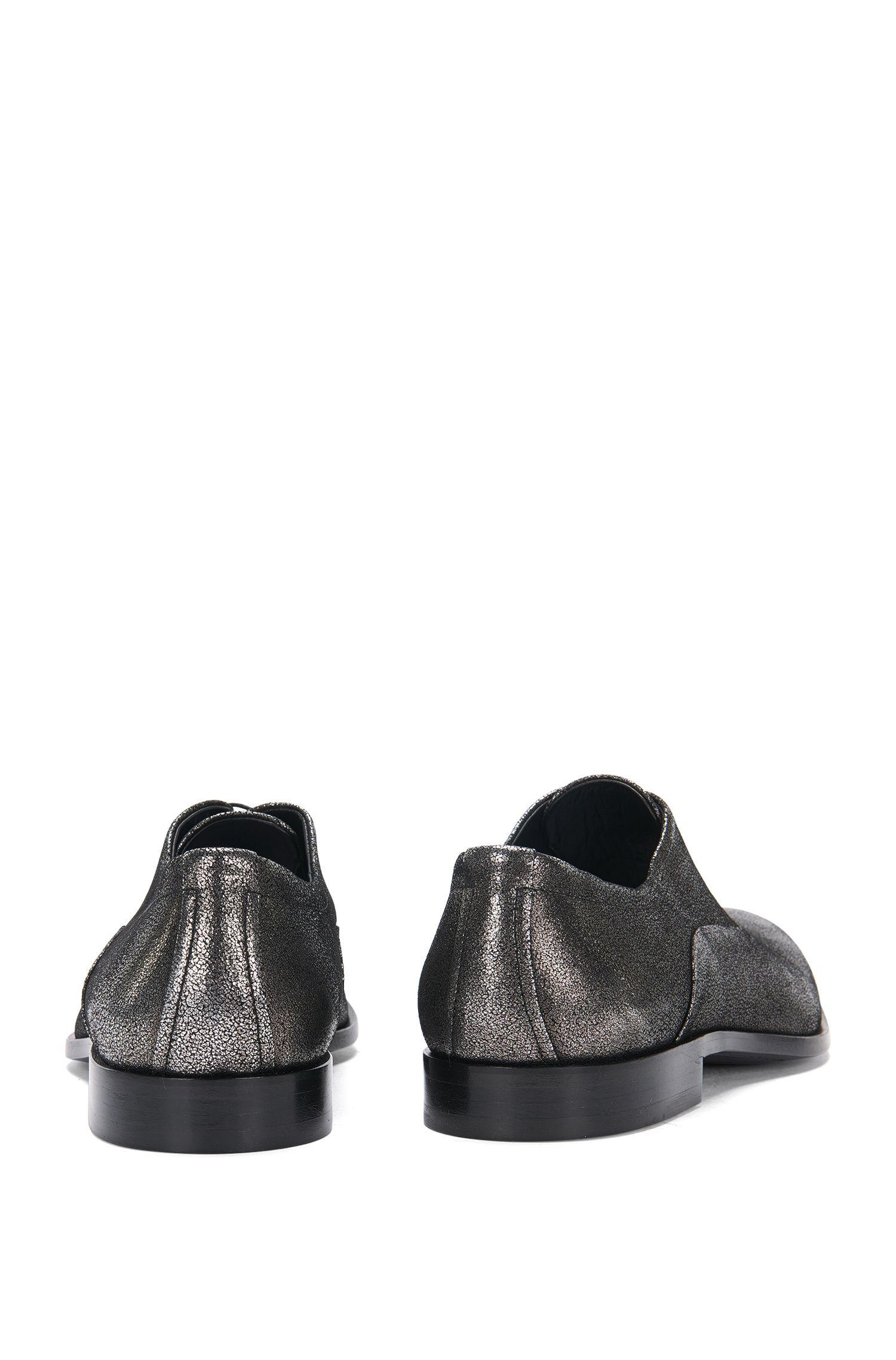 Schnürschuhe aus Leder im Metallic-Look: 'Sigma_Oxfr_sdgl'