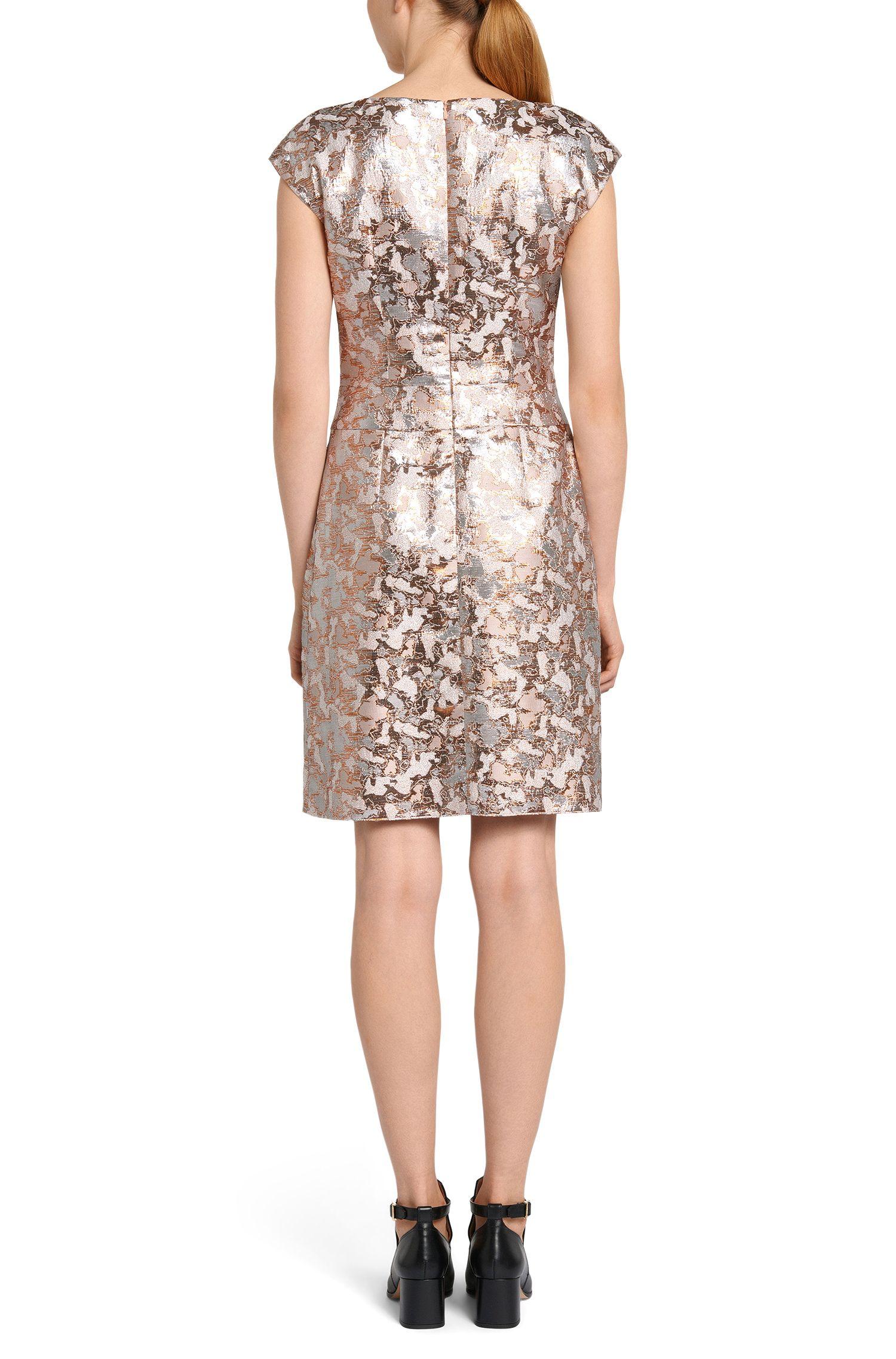 Kleid aus Baumwoll-Mix mit Metallic-Effekten: 'Kristena'