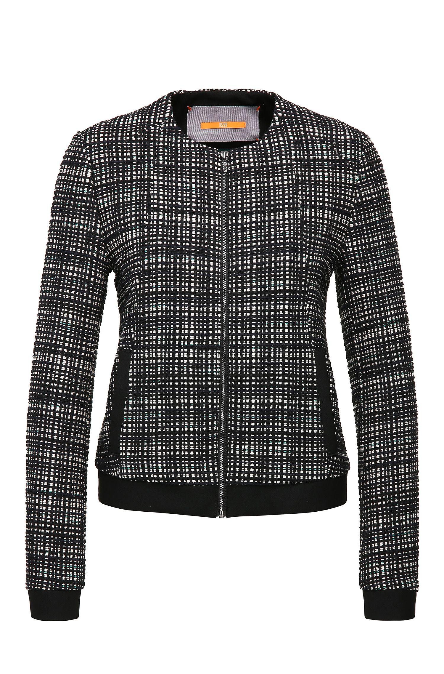 Short tweed tailored jacket in cotton blend: 'Otwidy'