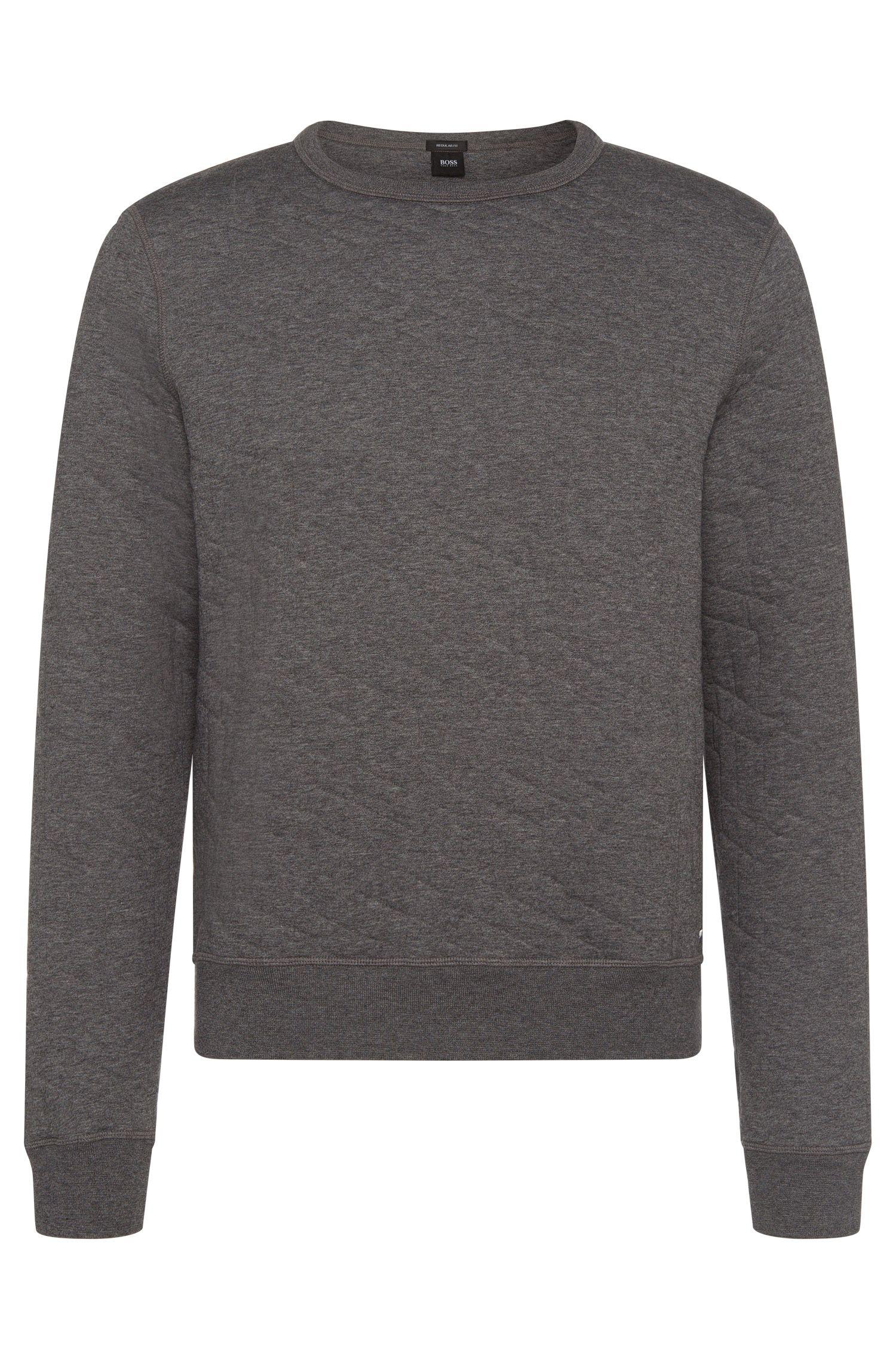 Meliertes Regular-Fit Sweatshirt aus Baumwoll-Mix: 'Stadler 03'