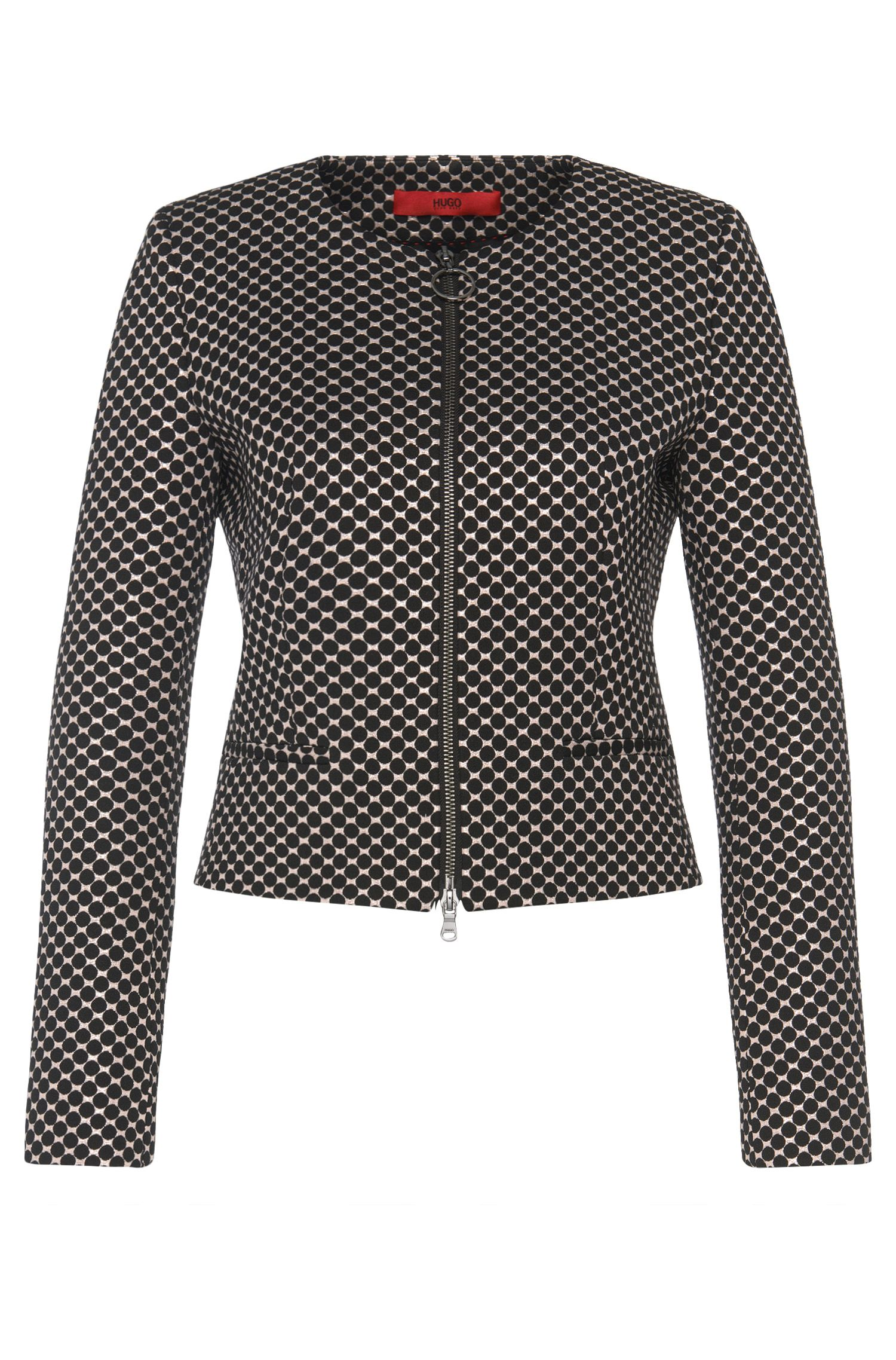 Short blazer in dotted design: 'Aleesia'