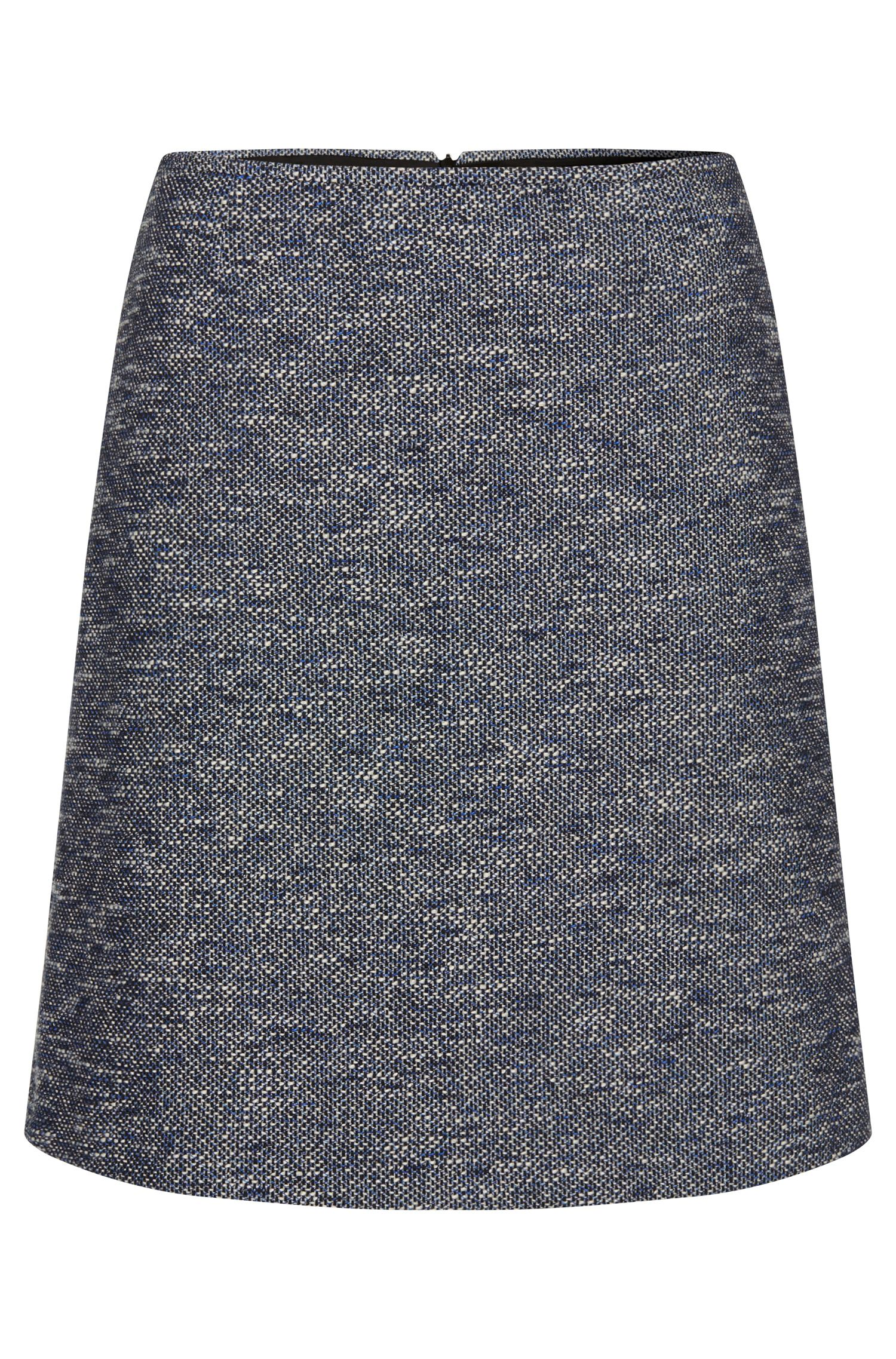 Skirt in a bouclé-look cotton blend: 'Relini-1'