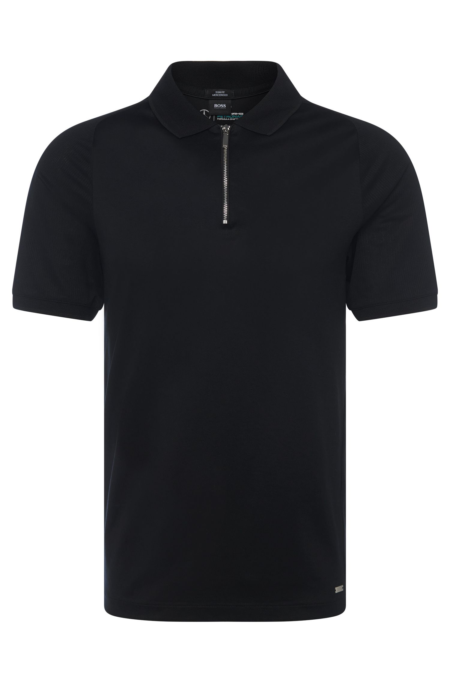 Polo Slim Fit en coton : « Polston 03 » issu de la collection Mercedes-Benz