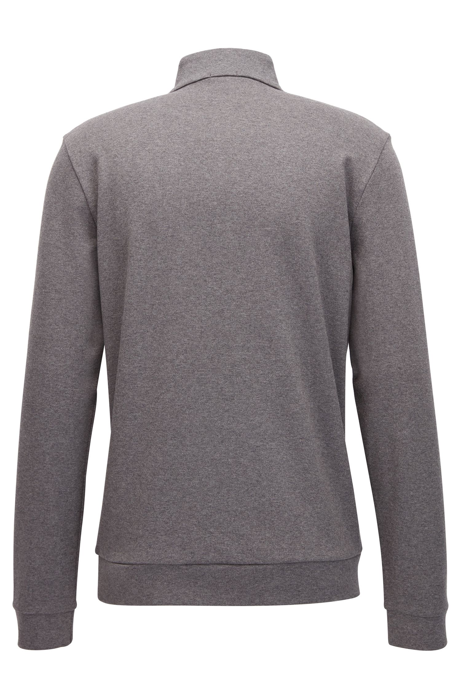 Regular-fit sweatshirt van katoen met gestructureerde voorkant: 'Sidney 10'