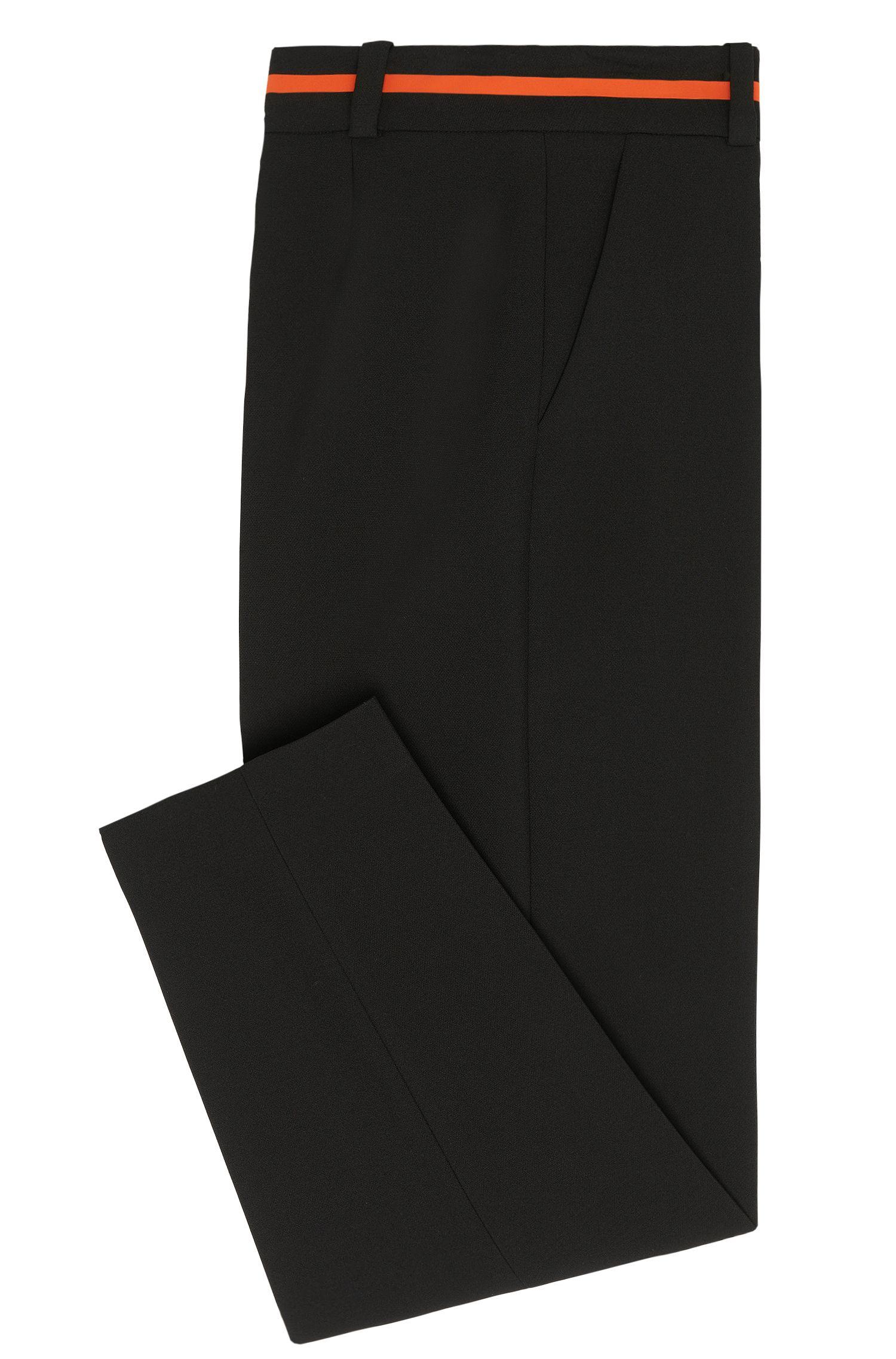 Pantalon de style jupe-culotte avec détail en contraste sur la ceinture: «Hulina»