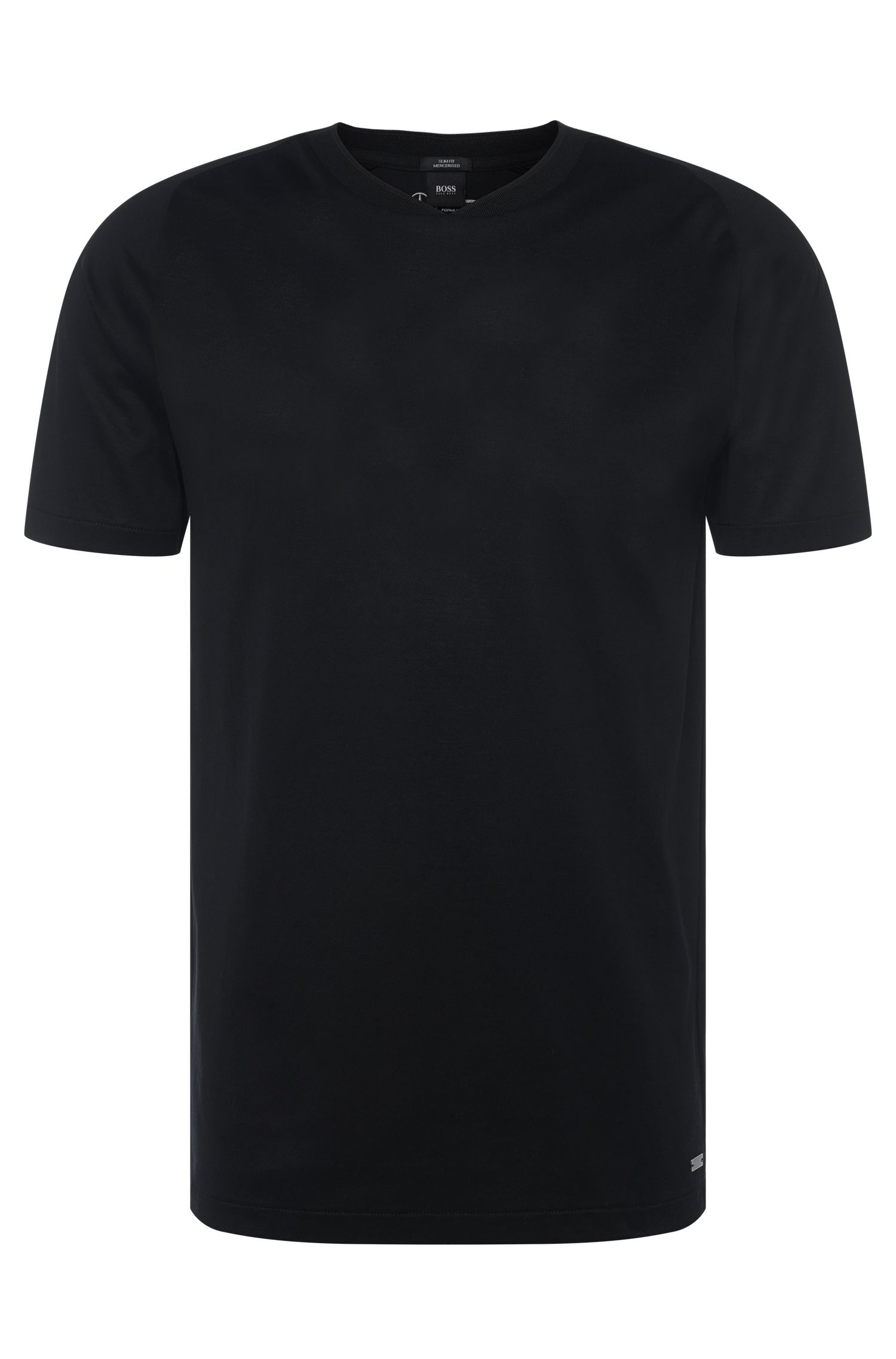 Plain slim-fit t-shirt in cotton: 'Tessler 40' from the Mercedes-Benz Collection
