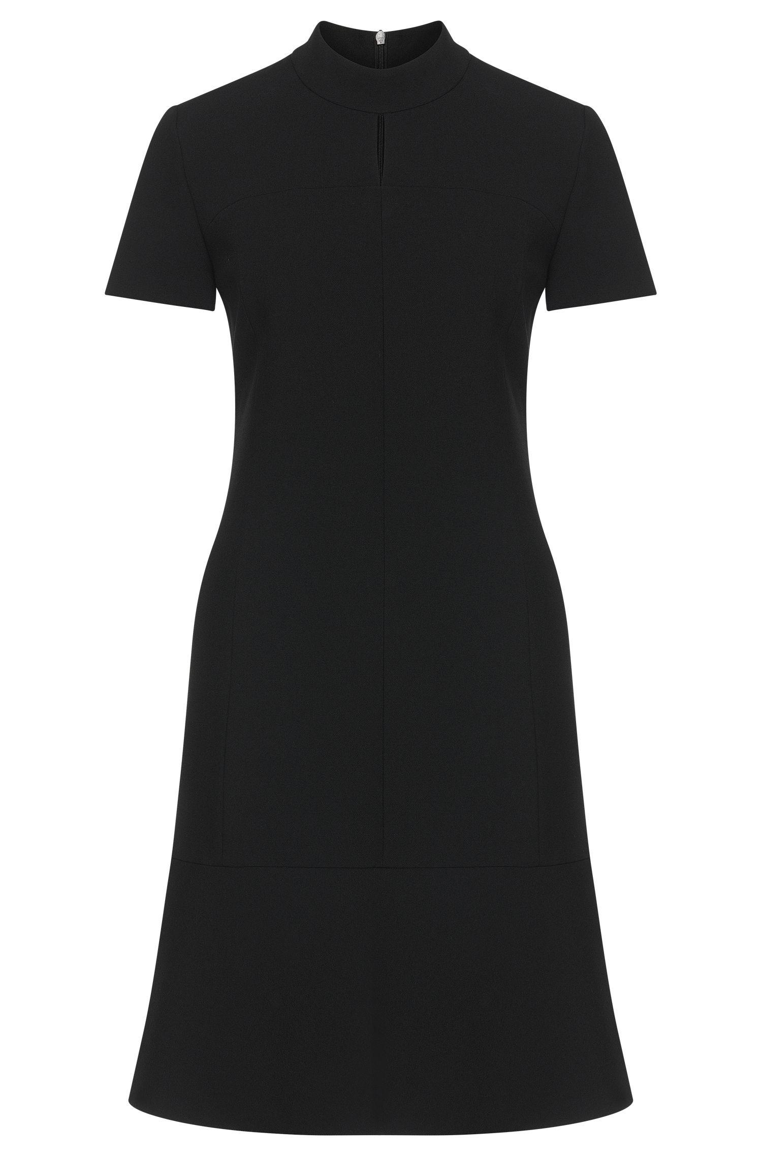 Effen jurk met korte, opstaande kraag: 'Kilona'