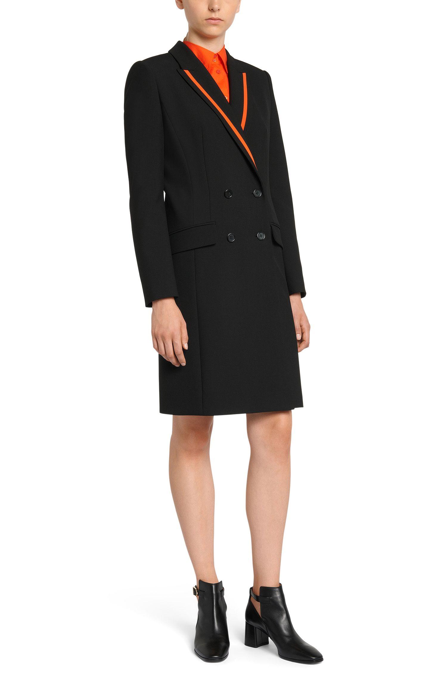 Mantel mit kontrastfarbenen Blenden: 'Madelana'