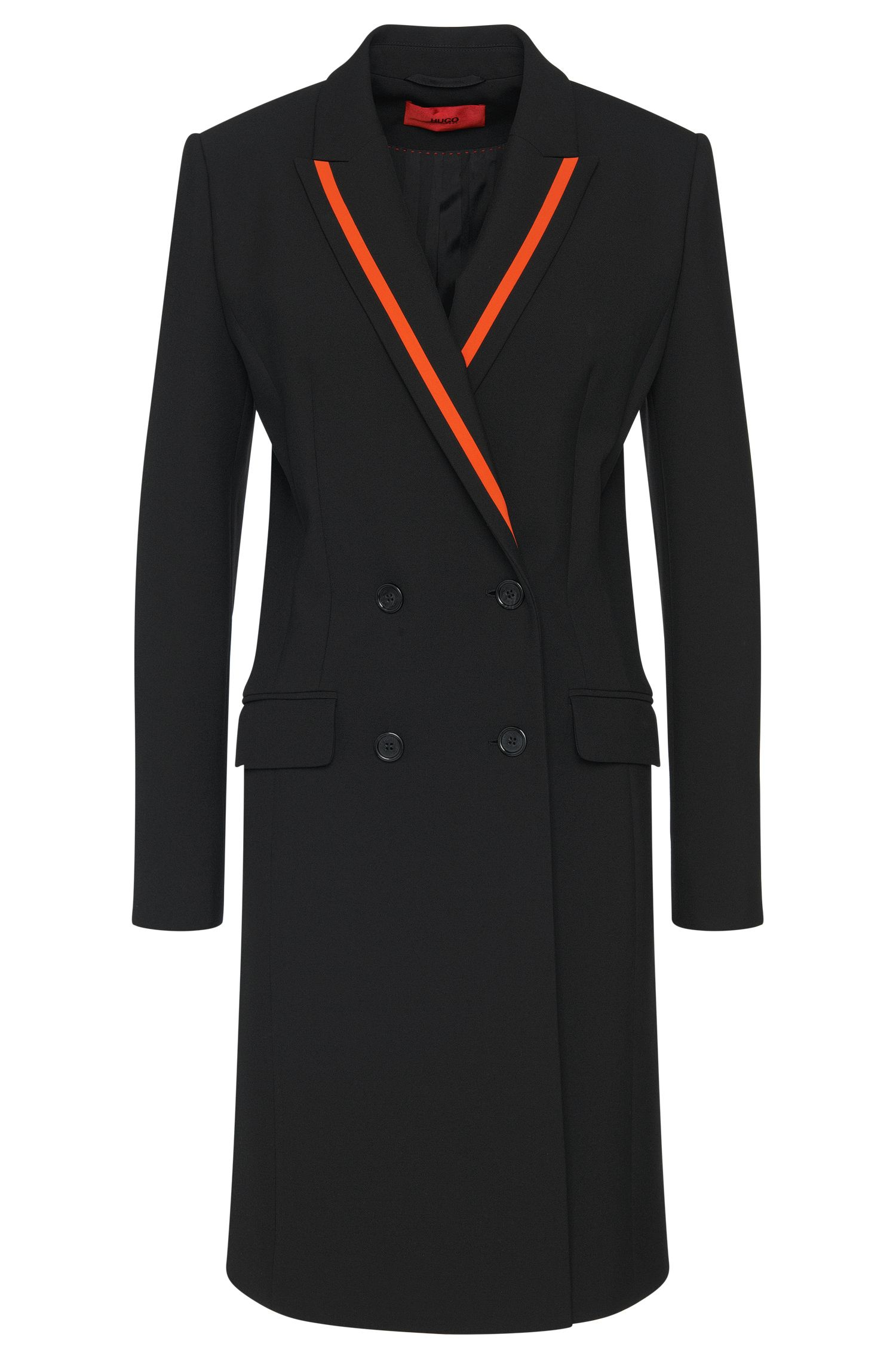 Coat with contrasting-colour panels: 'Madelana'