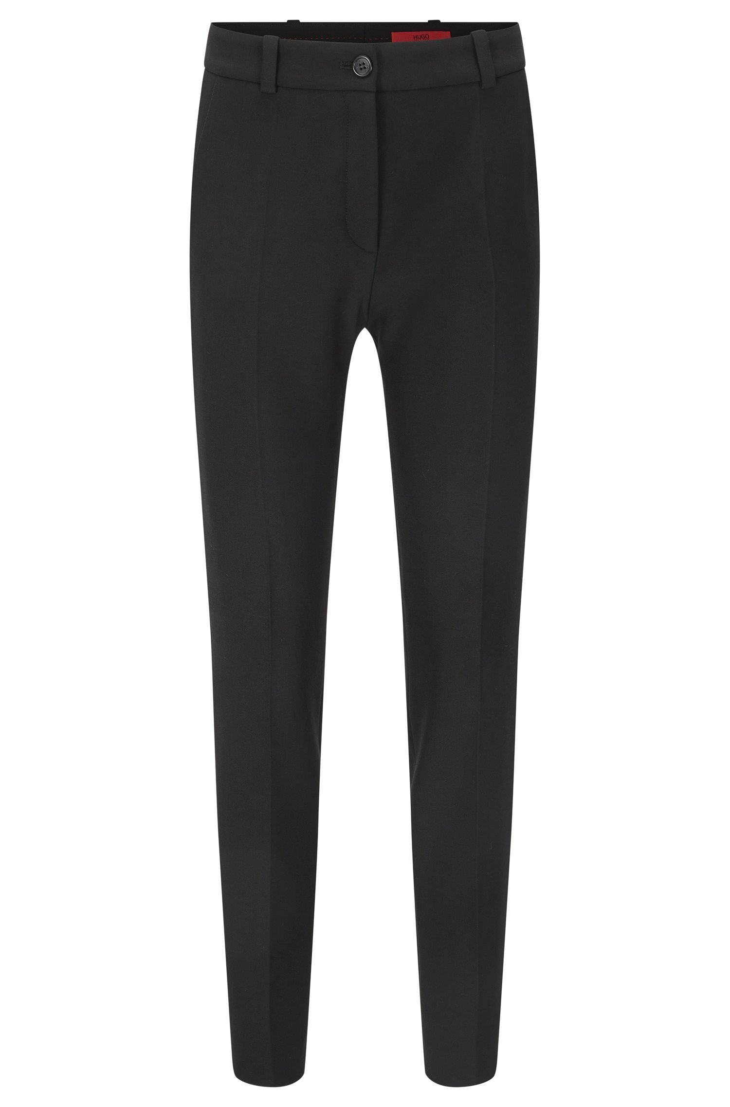 Straight-cut trousers with pressed creases: 'Havine'