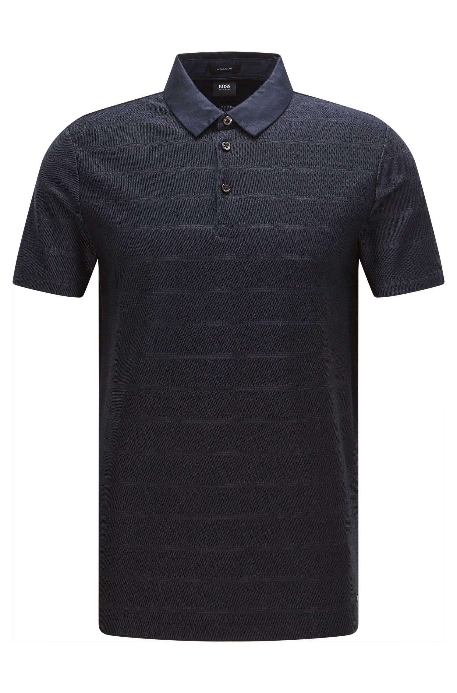 Polo Regular Fit en coton avec col contrastant: «Pack 08»