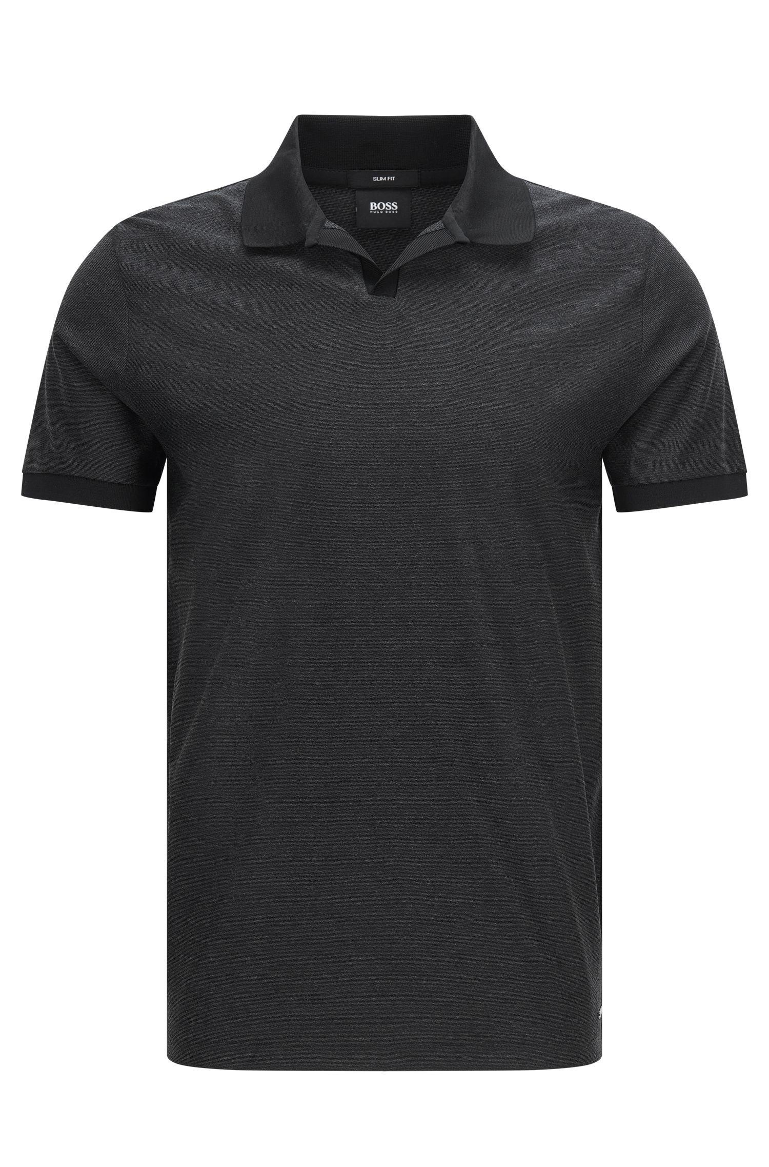 Fein gemustertes Regular-Fit Poloshirt aus Baumwolle: 'Philippson 10'