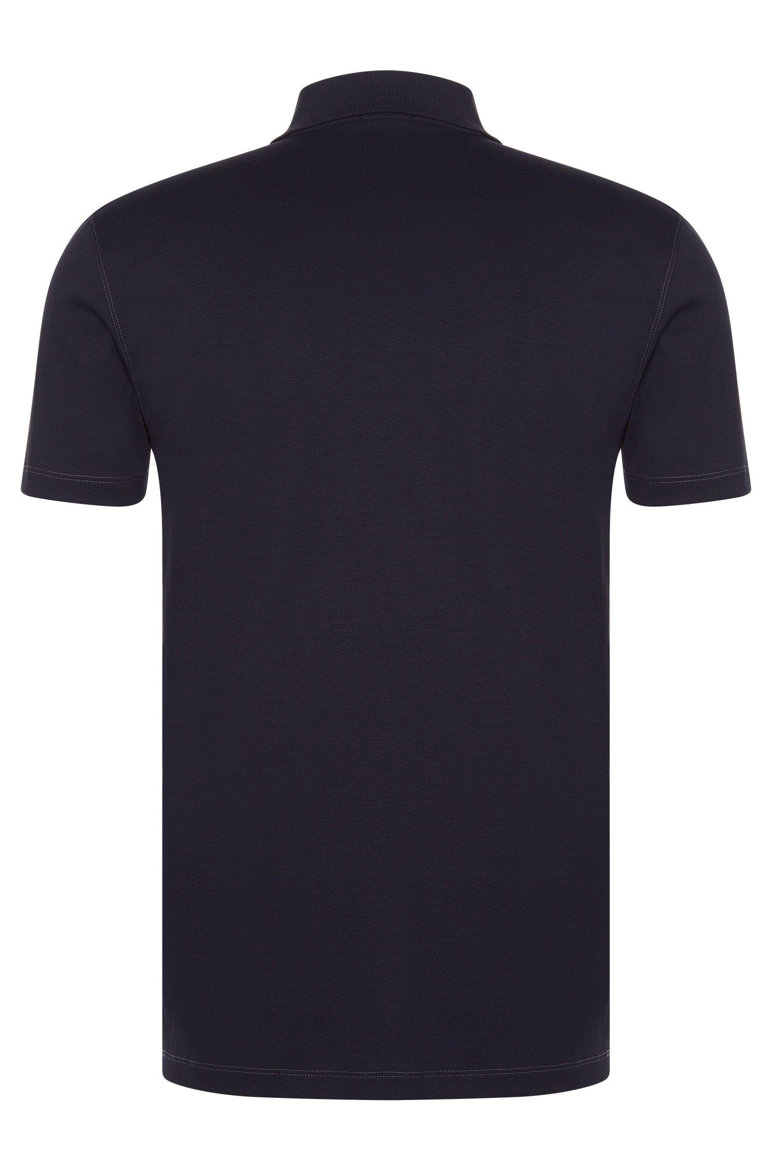 Polo Slim Fit en coton avec zip: «Plater 03»