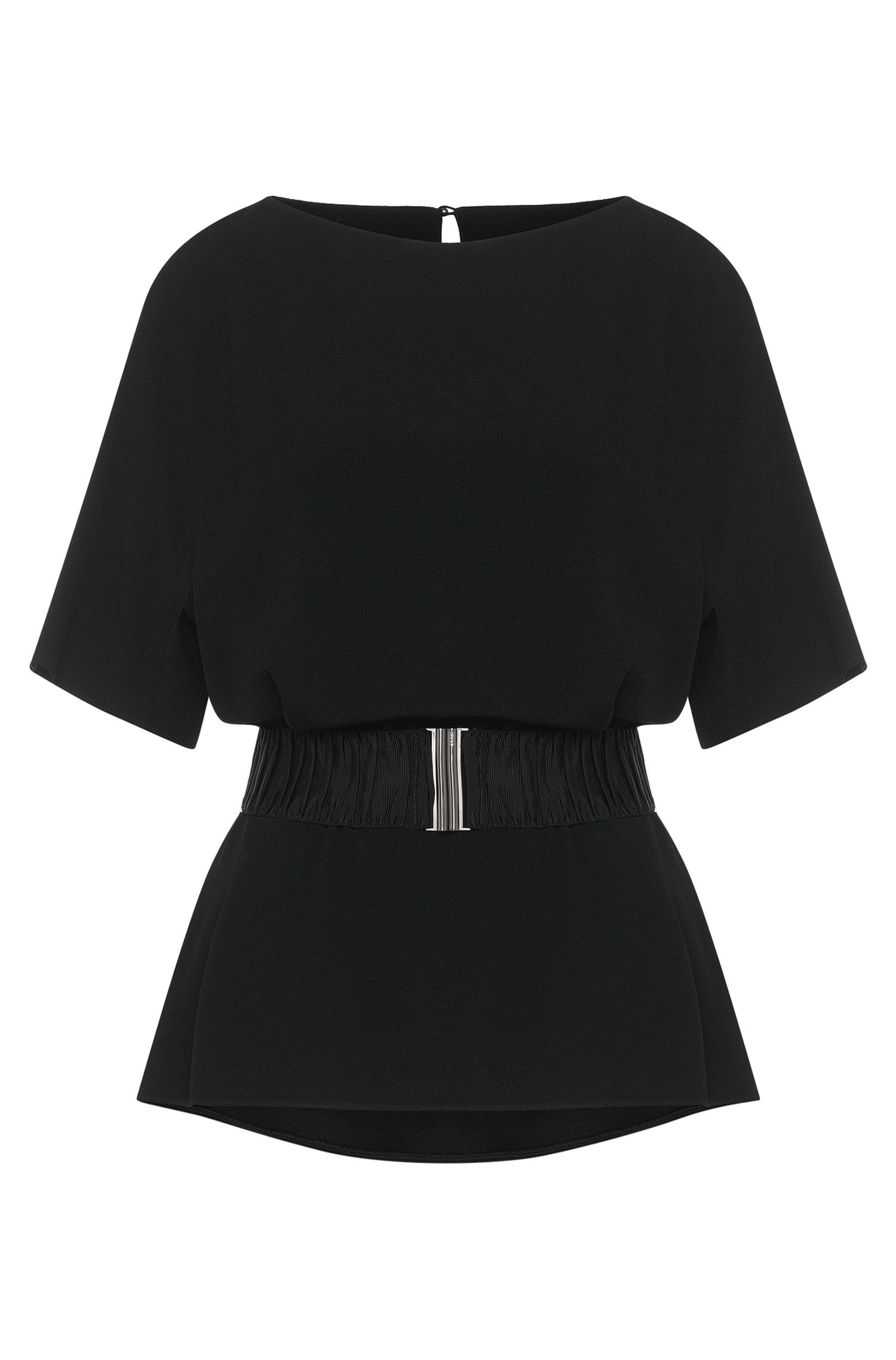 Fitted top with belt: 'Chariss'