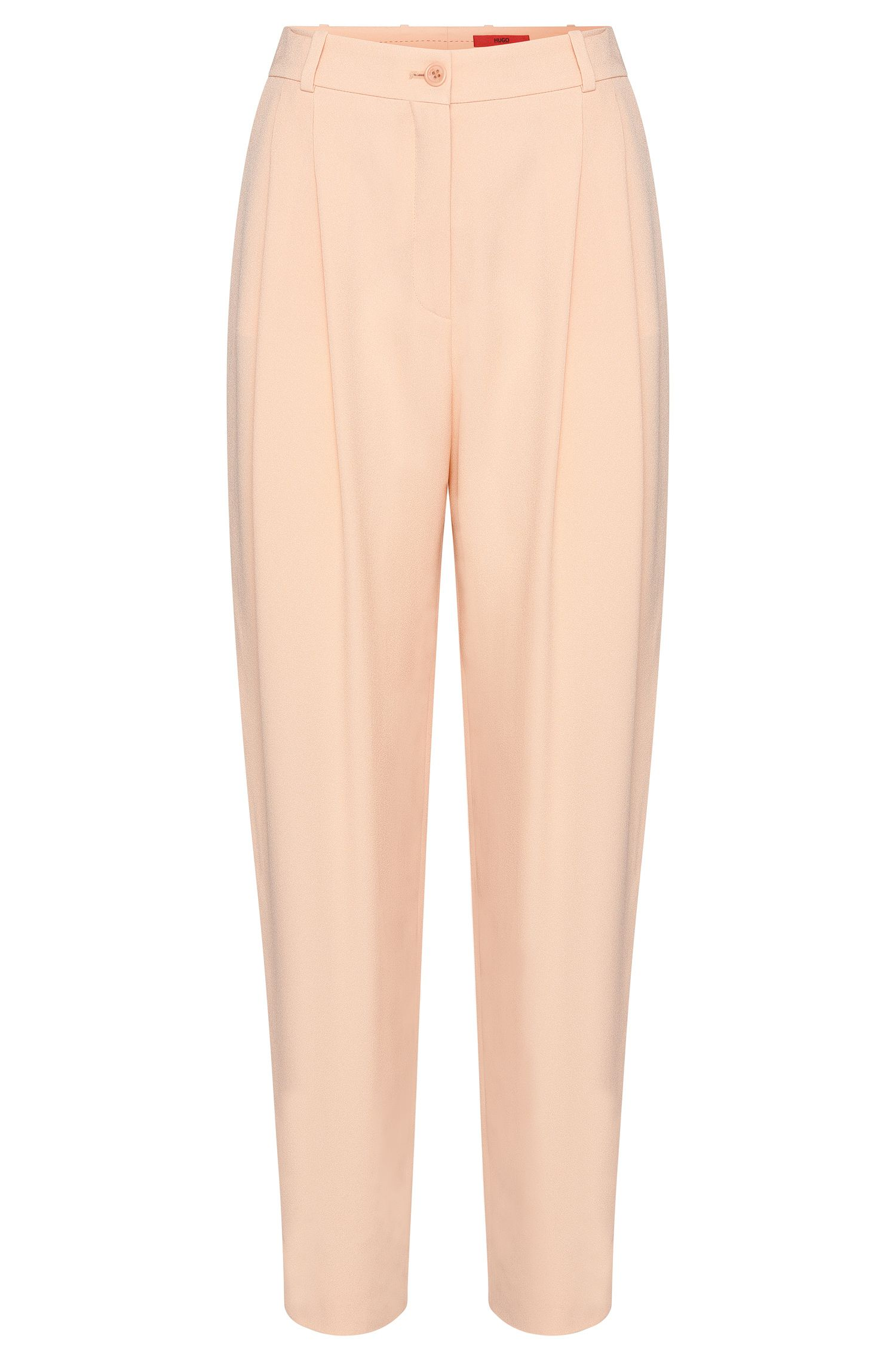 High-rise fitted trousers with fixed pleats: 'Haruka'
