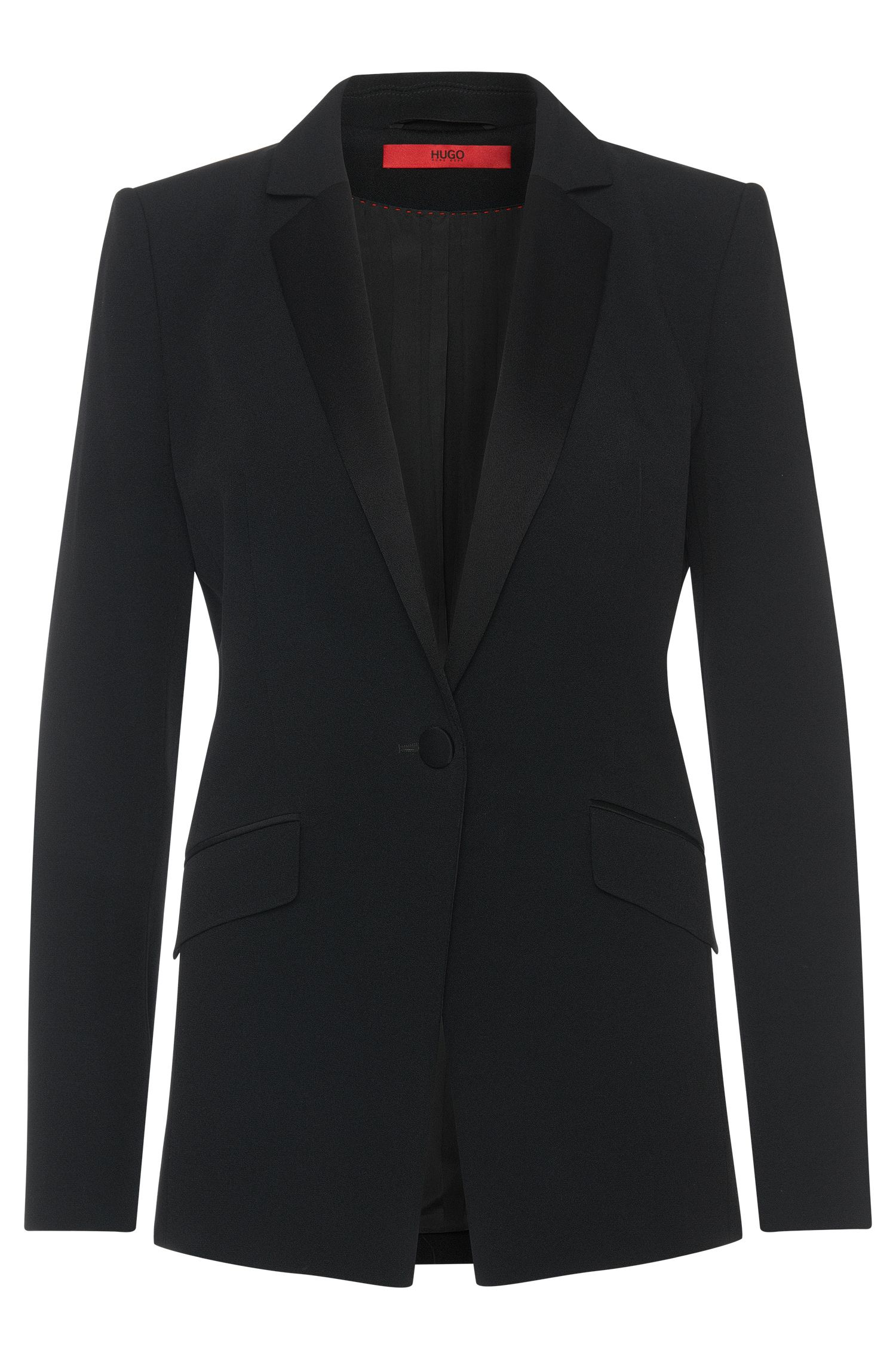 Slightly fitted blazer with a narrow lapel collar: 'Agnesa'