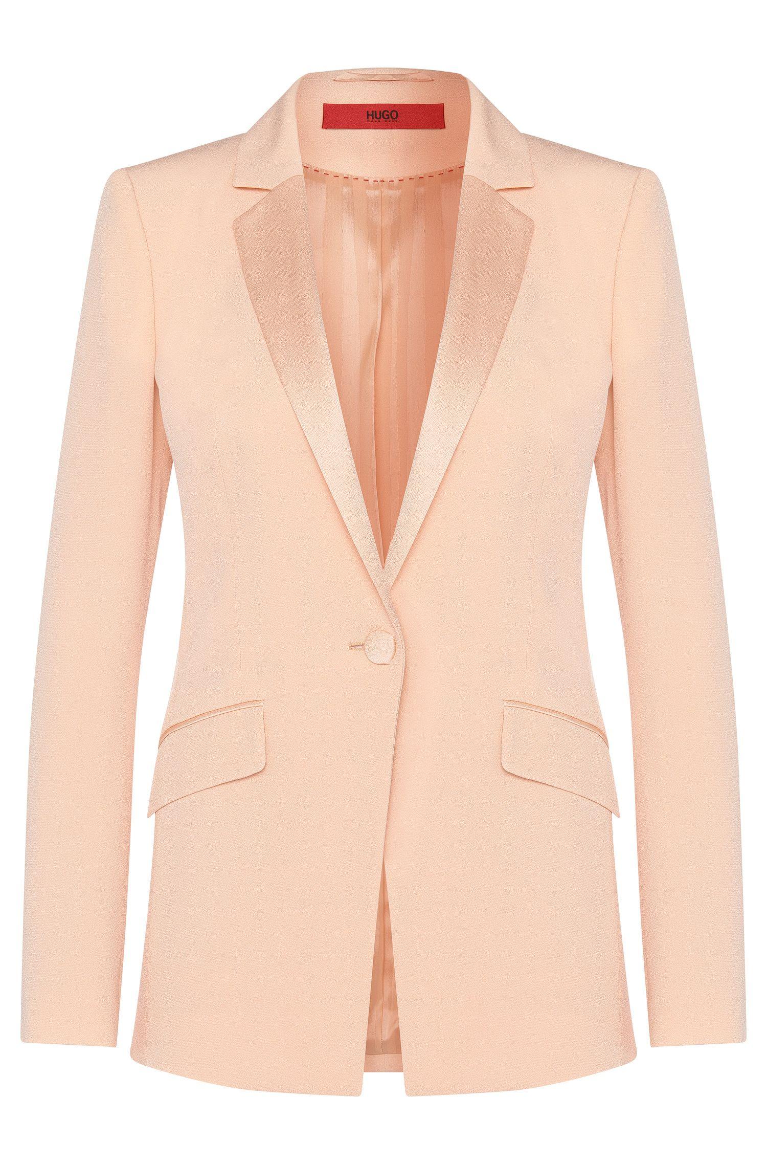 Licht getailleerde blazer met smalle reverskraag: 'Agnesa'