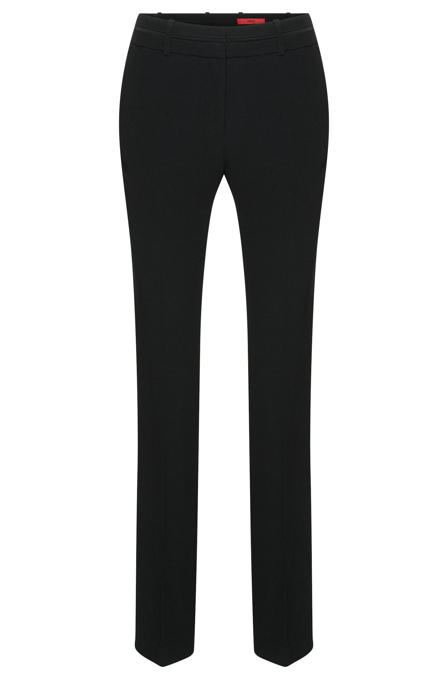 Straight-cut trousers with pressed creases: 'Halune'