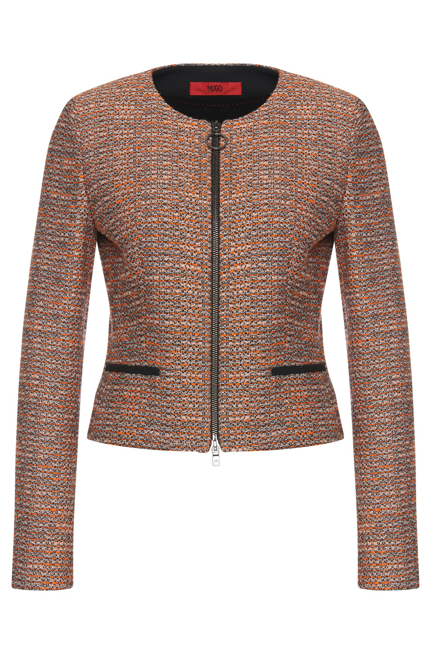 Bouclé-style short blazer in cotton blend: 'Aleesia'