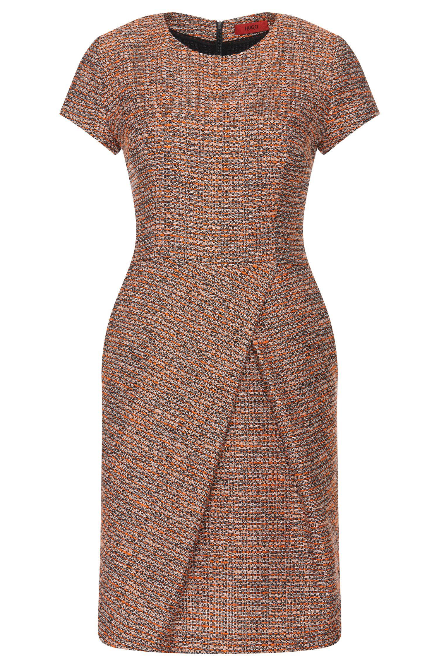 Dress in a bouclé-look cotton blend: 'Kilayla'