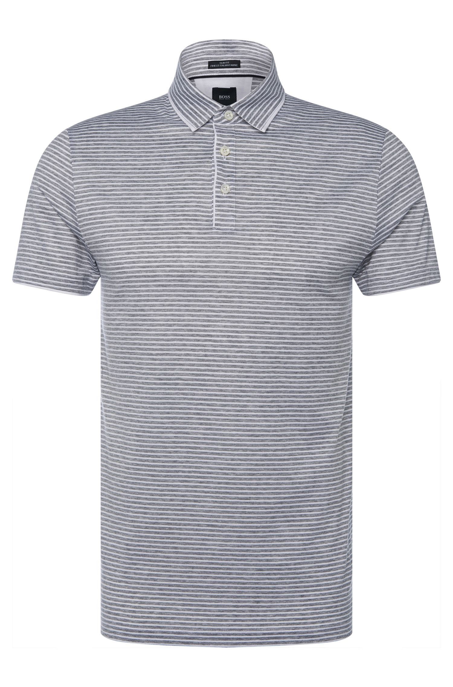 Gestreiftes Slim-Fit Tailored Poloshirt aus Baumwolle: 'T-Pryde 27'