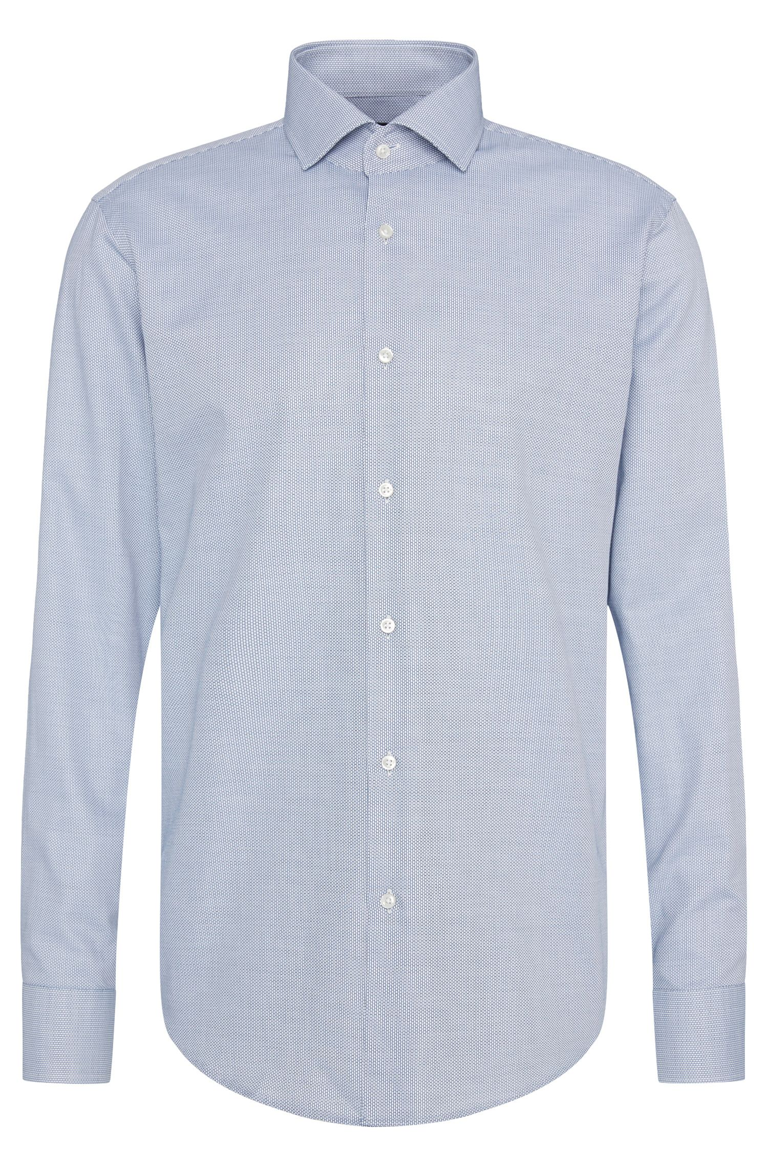 Camisa regular fit con estampado elegante en algodón: 'Gordon'
