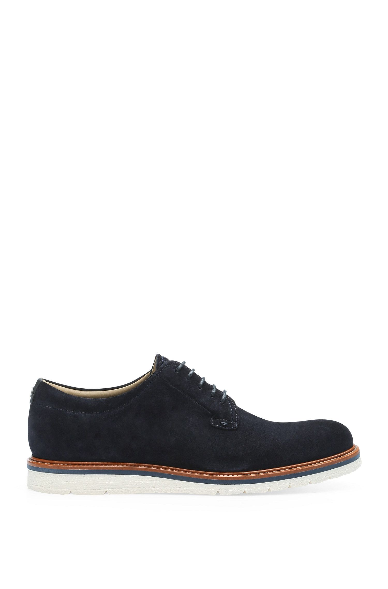 Lace-ups in suede with contrasting sole: 'TunedDerbsd1'