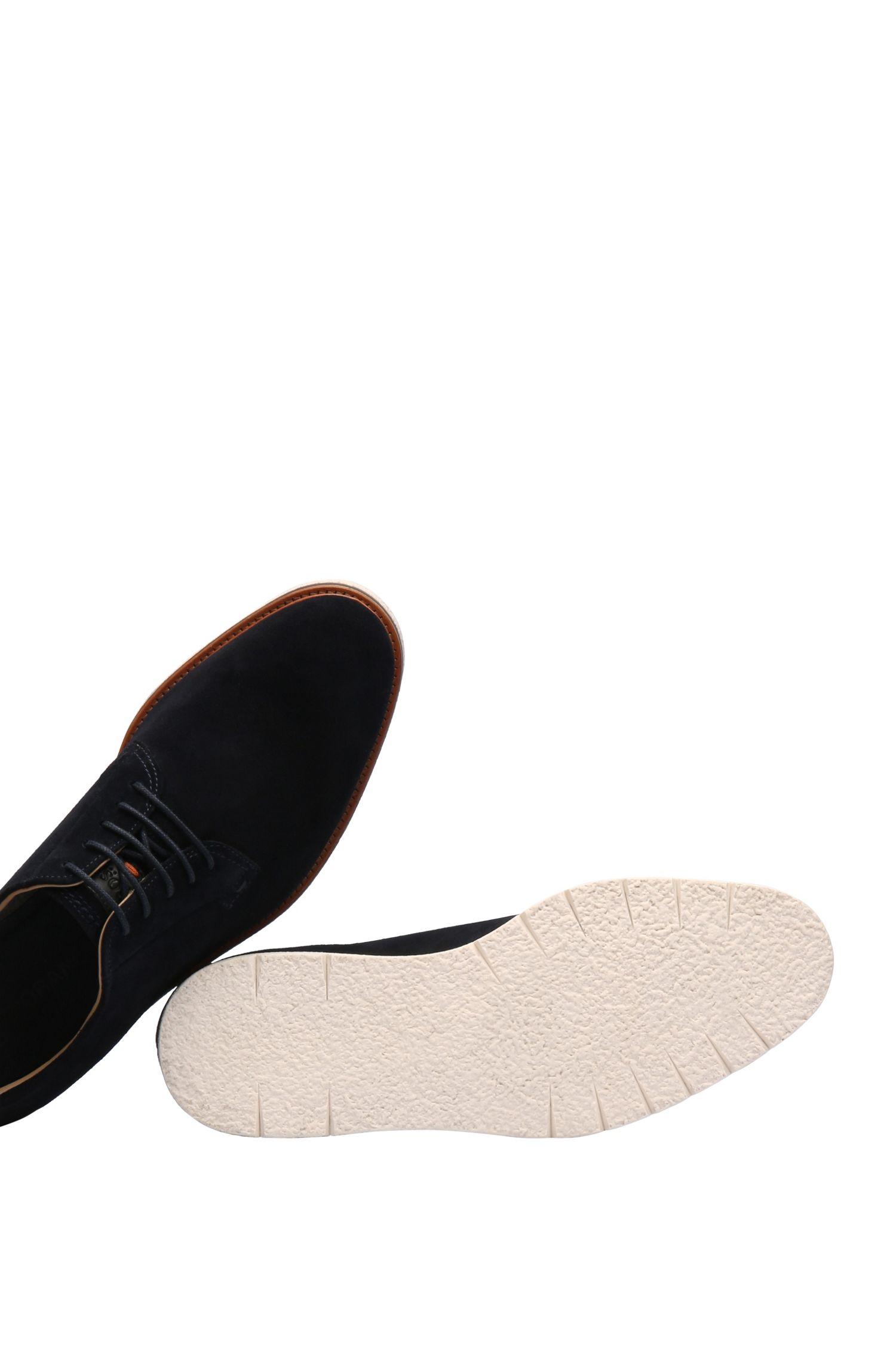 Chaussures à lacets en daim à semelle contrastante: «TunedDerbsd1»