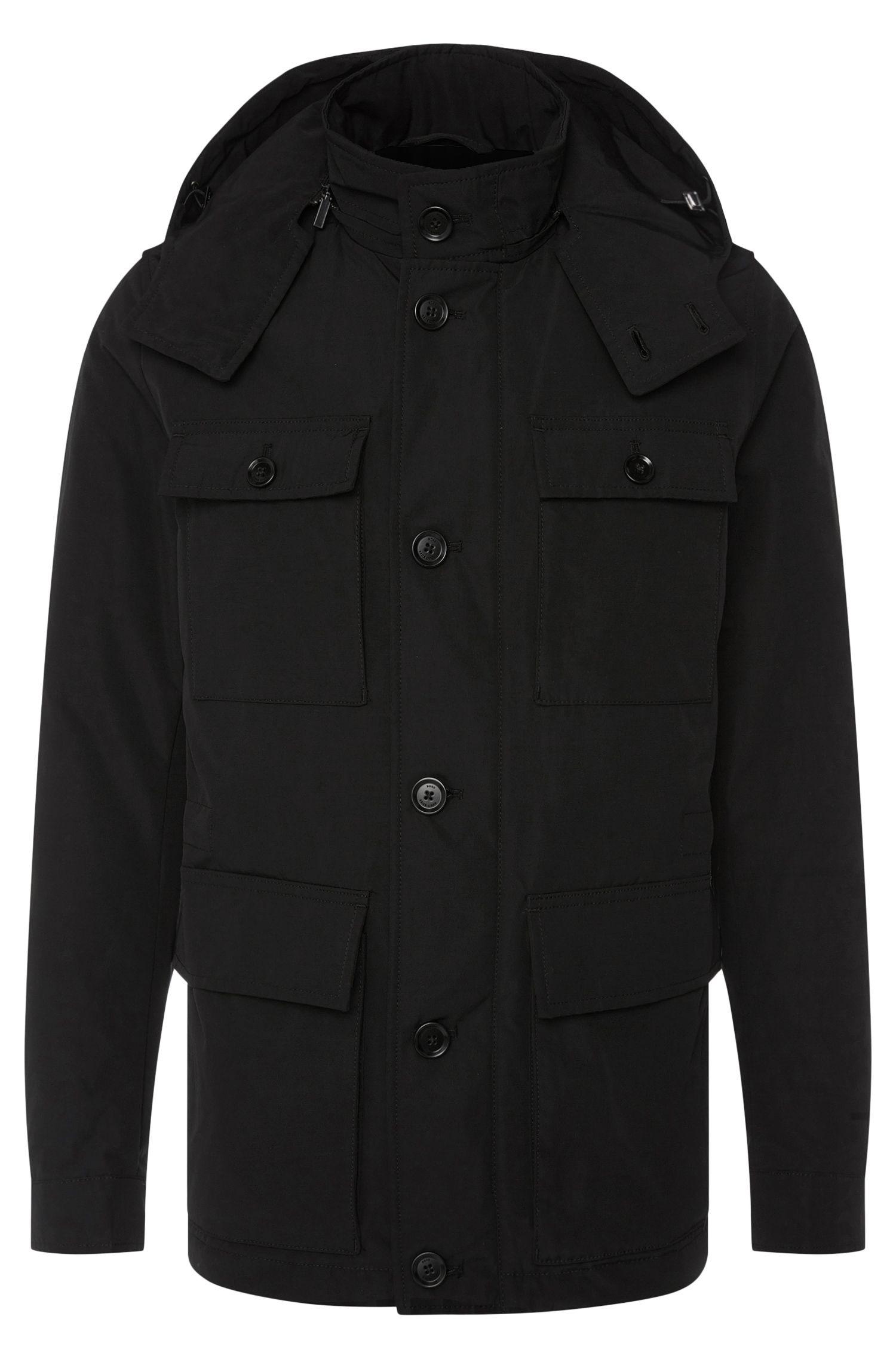 Water-repellent jacket with detachable hood: 'Cedar'